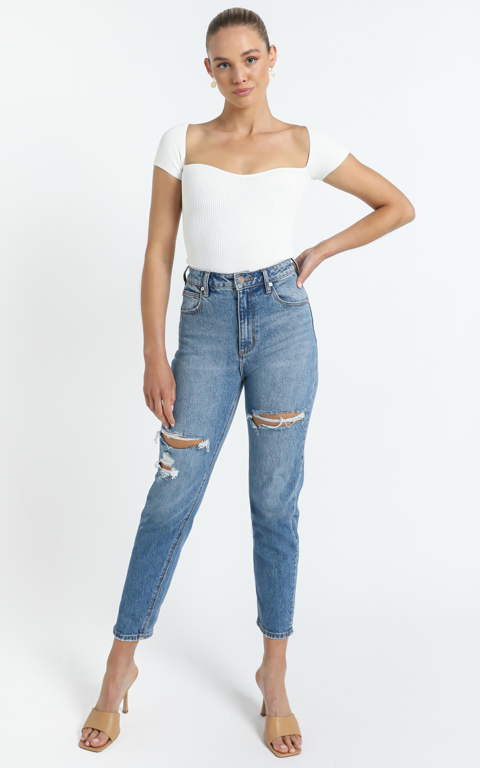 Marisa Knit Top in White - 12 (L), White, hi-res image number null