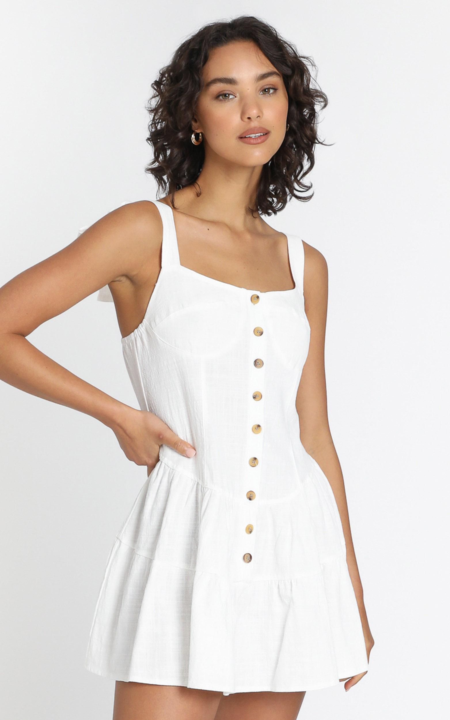 Valentina Dress in White - 6 (XS), White, hi-res image number null