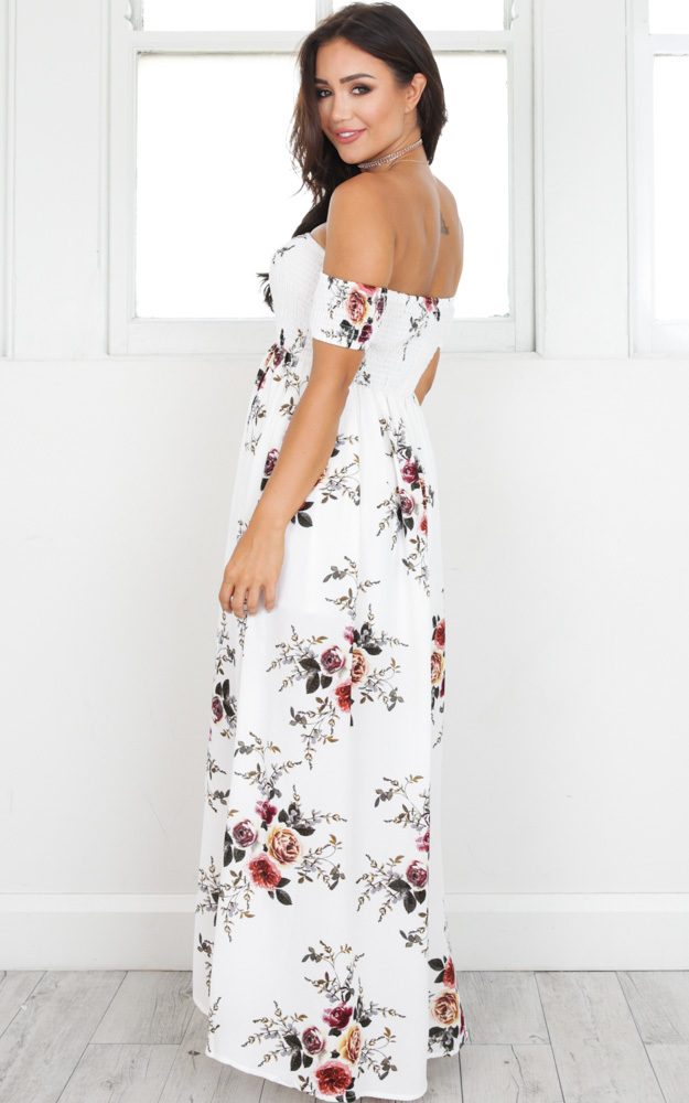Lovestruck Maxi Dress in white floral - 6 (XS), Multi, hi-res image number null