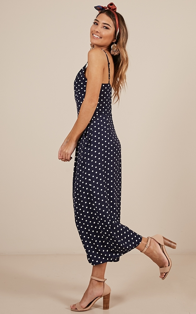 Dreamy Days Jumpsuit in navy spot, Navy, hi-res image number null