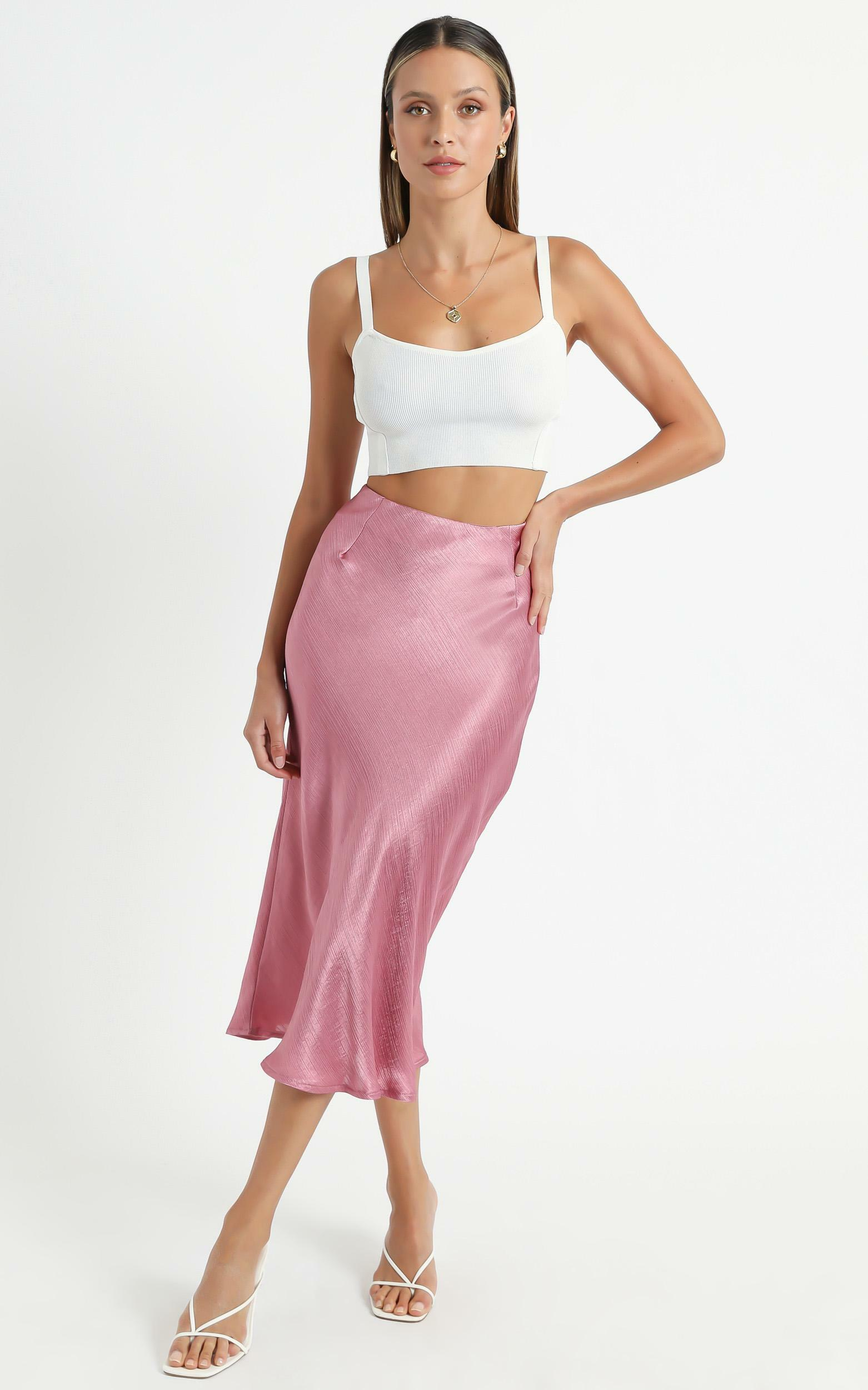 Creating Art Skirt in Dusty Rose Satin - 06, PNK2, hi-res image number null