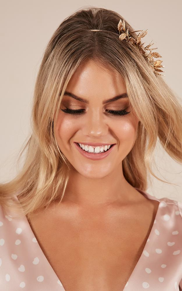 Stubborn Love hair piece in gold, , hi-res image number null