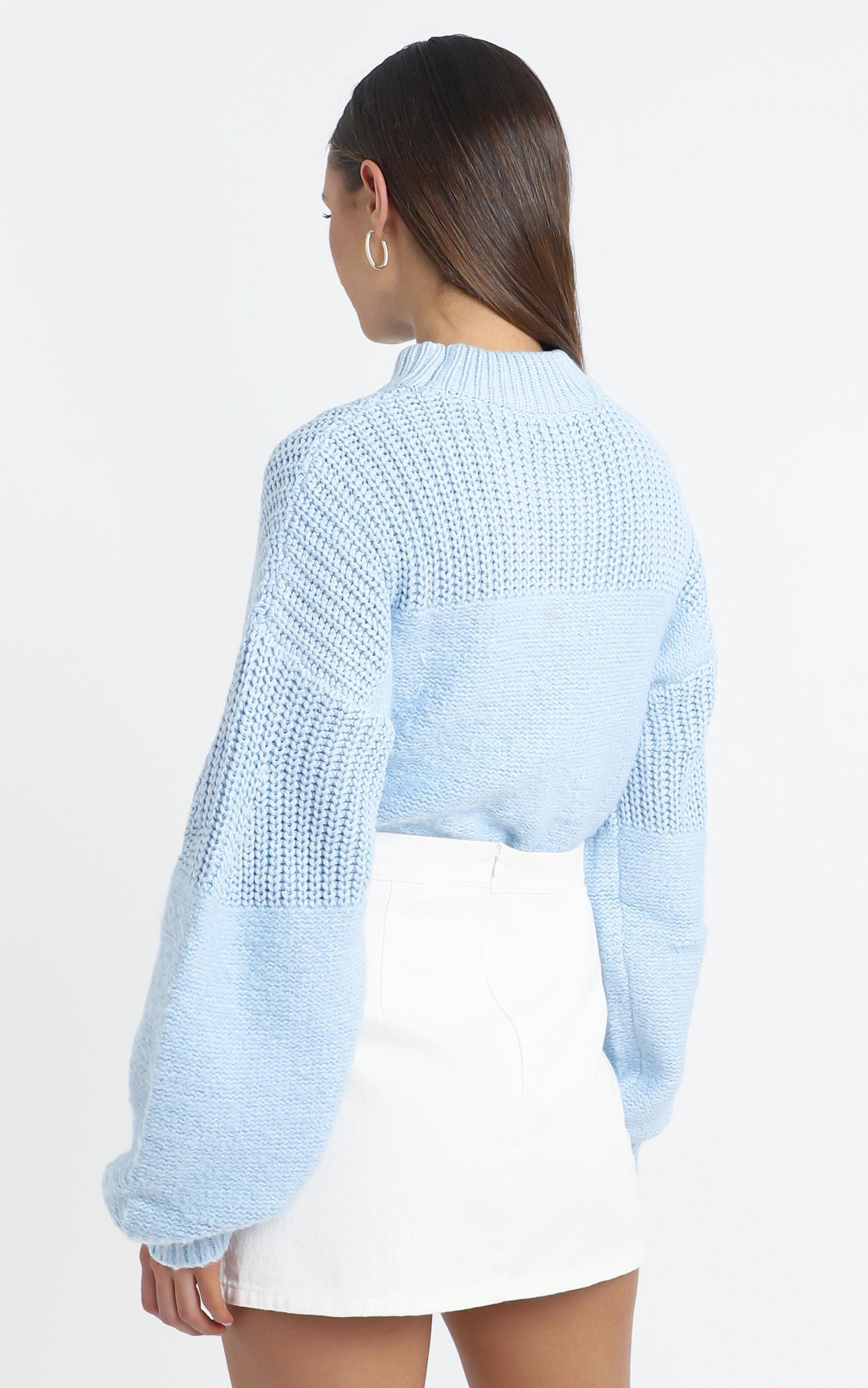 Dakota Knit Jumper in Blue - 14 (XL), Blue, hi-res image number null