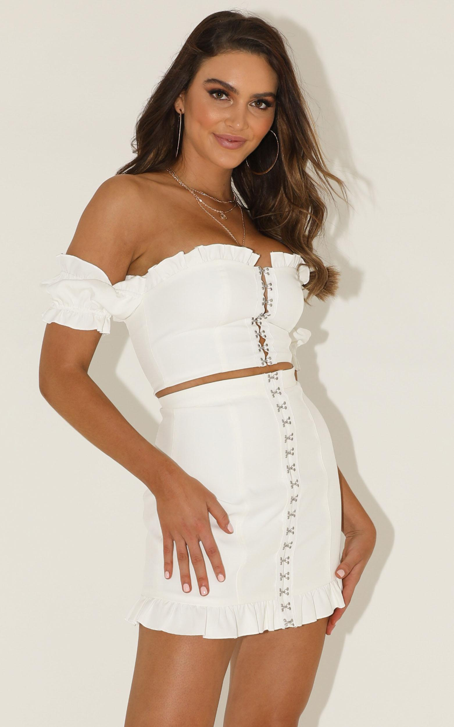 Carry All Your feelings Two Piece Set in  white - 16 (XXL), White, hi-res image number null