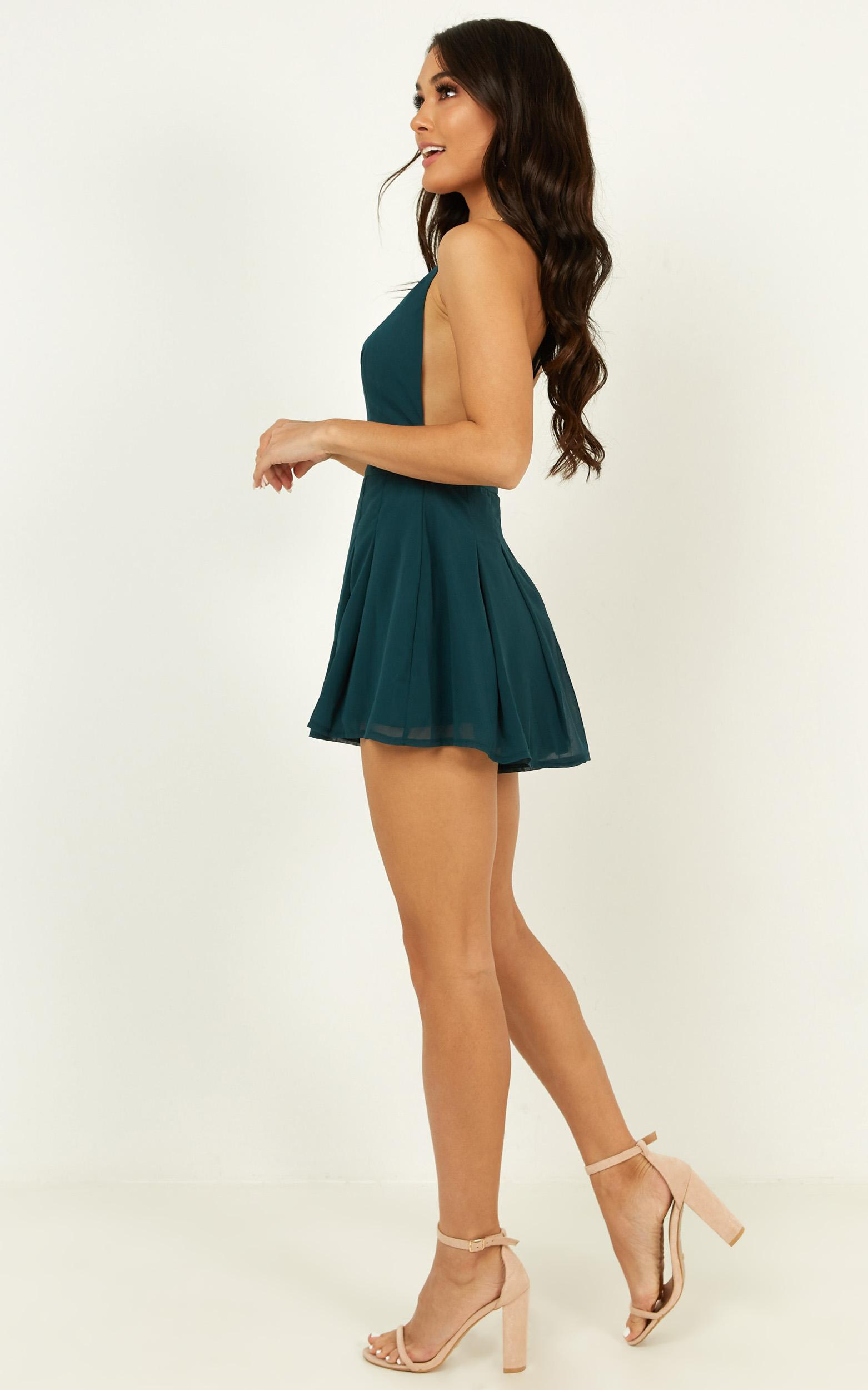 Non Stop Dancer Playsuit in emerald - 20 (XXXXL), Green, hi-res image number null