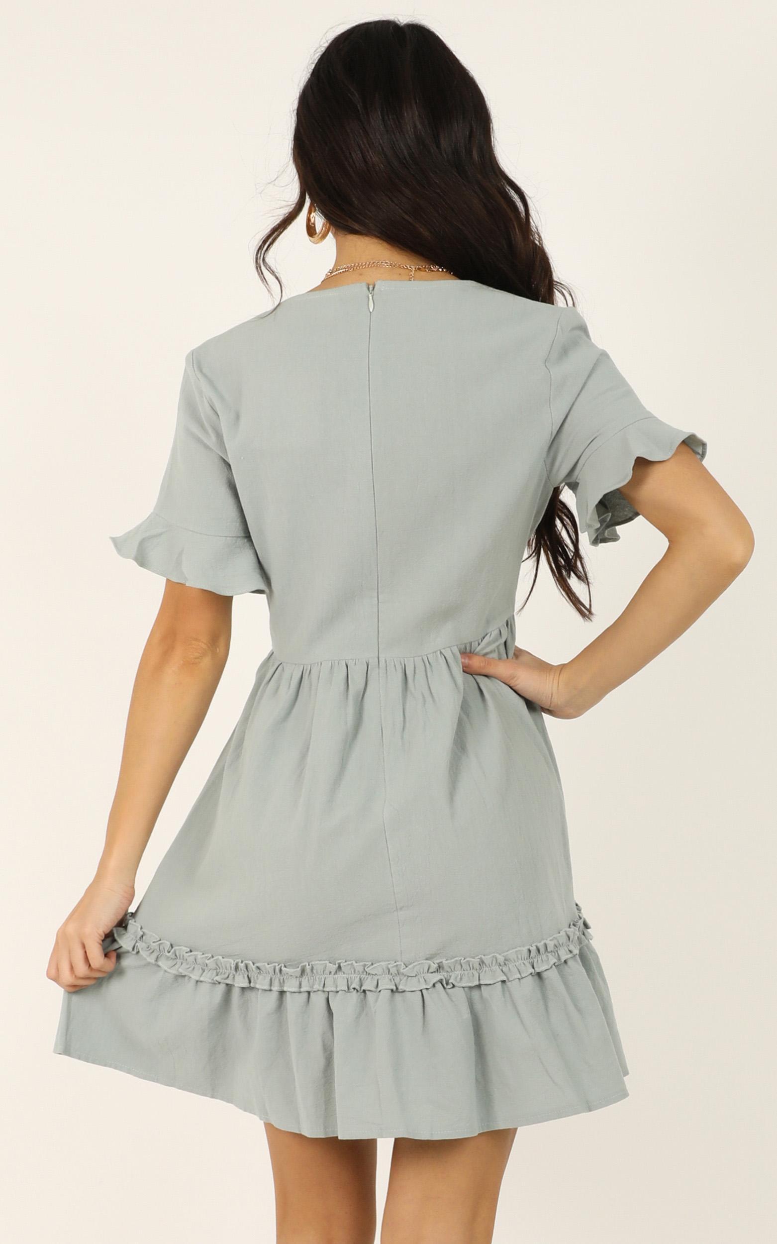 She Got Lost Dress in sage - 14 (XL), Sage, hi-res image number null