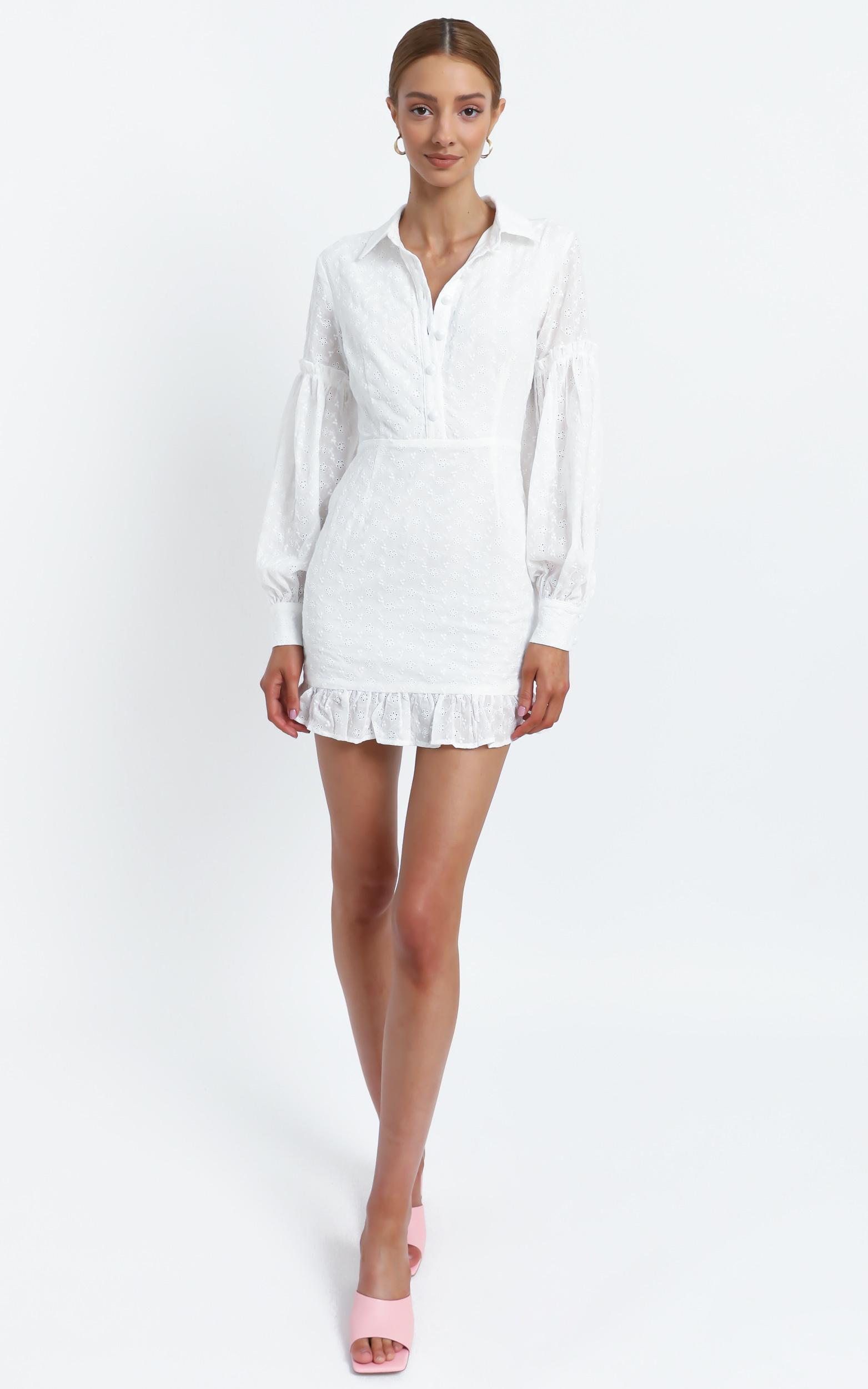 Carine Dress in White - 16 (XXL), White, hi-res image number null
