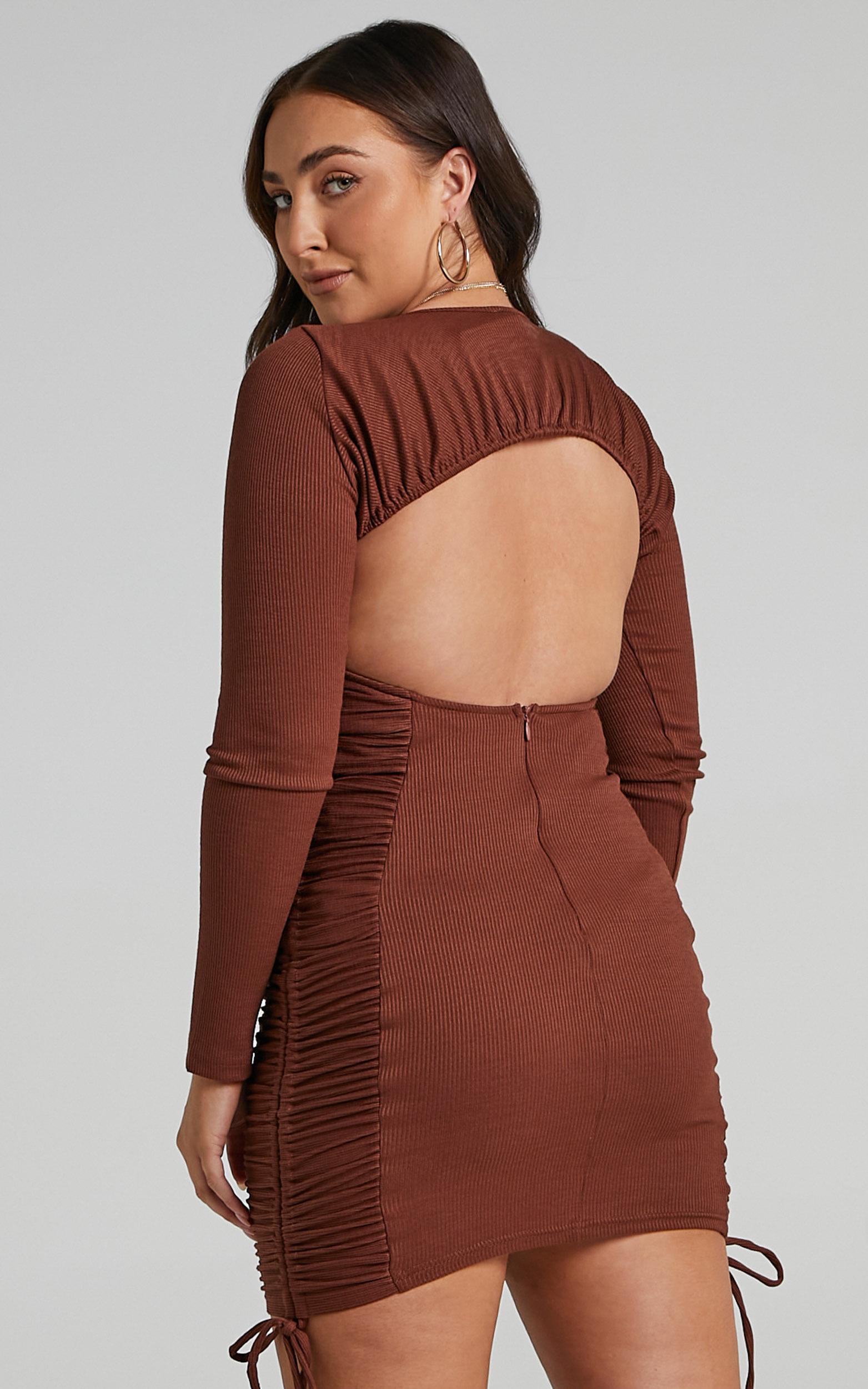 Brittah Dress in Chocolate - 06, BRN1, hi-res image number null