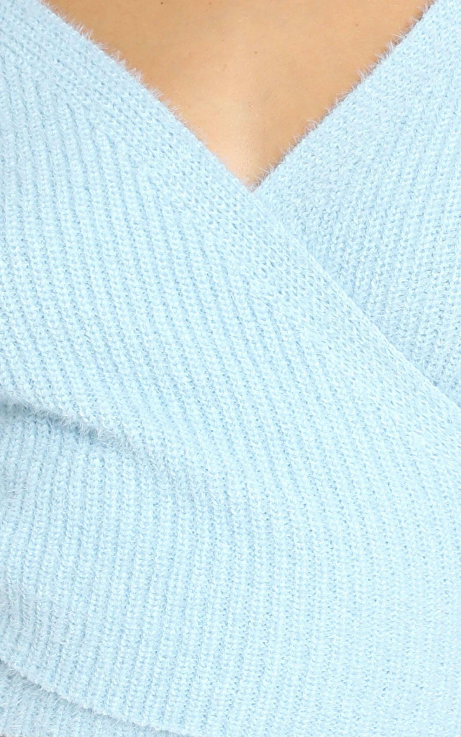 Peigi Knit in Pale Blue - 8 (S), Blue, hi-res image number null
