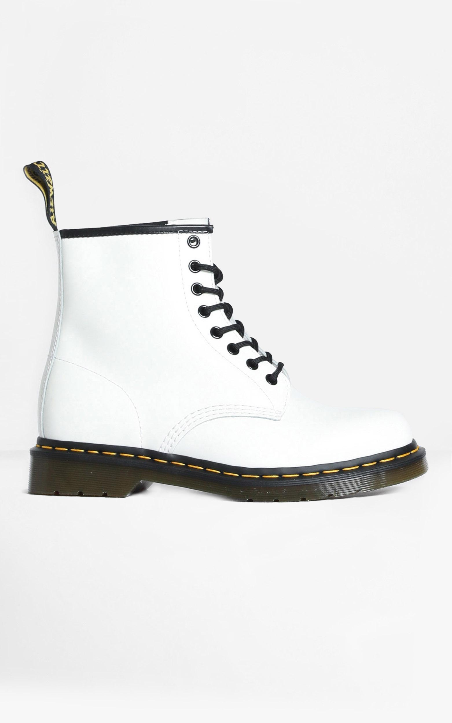 Dr. Martens - 1460 8 Eye Boot in White Smooth - 5, White, hi-res image number null