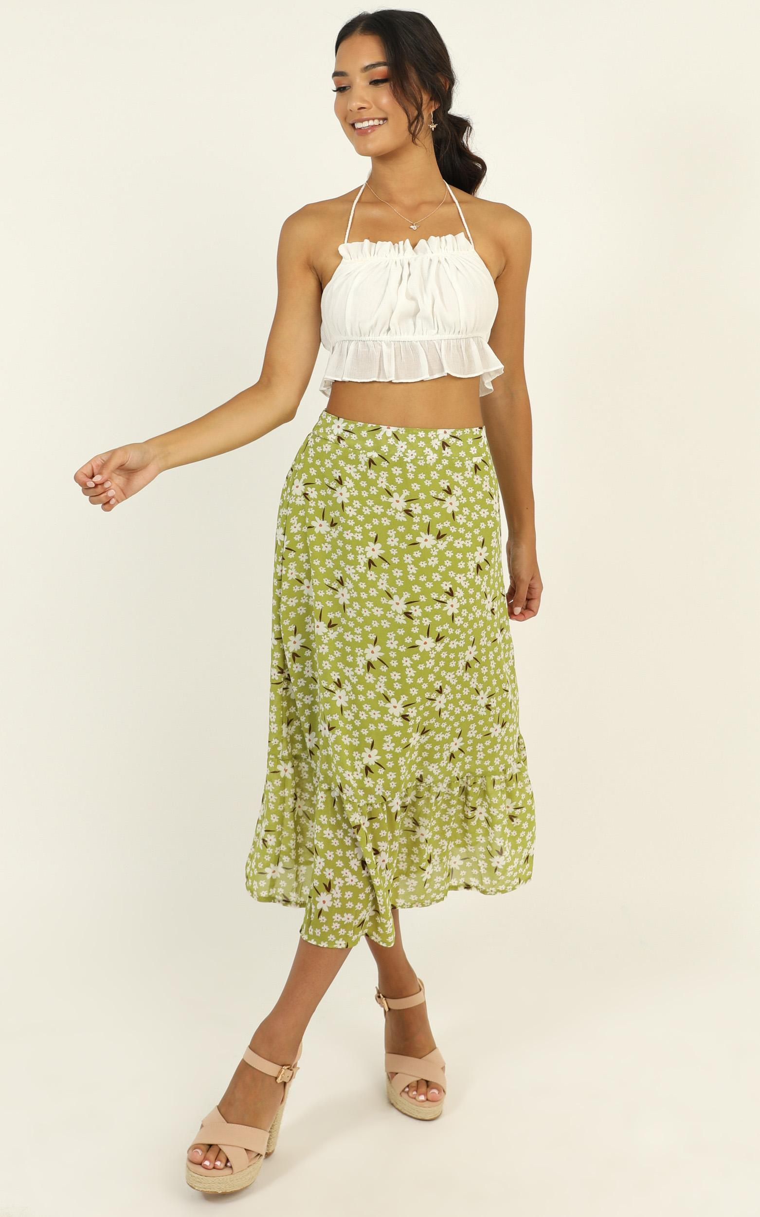 Actions Speak Skirt in green floral - 14 (XL), Green, hi-res image number null