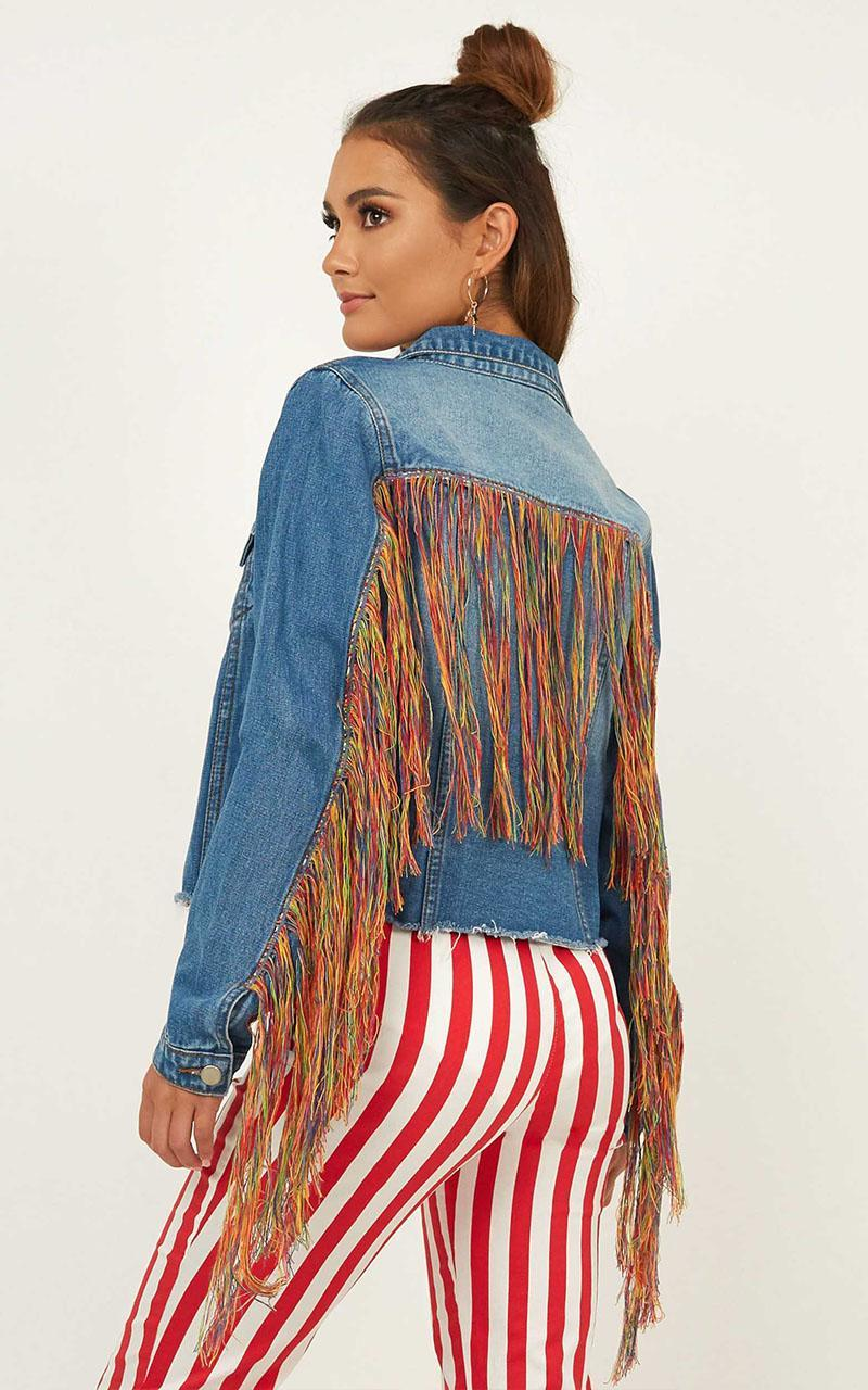 Party Within Denim Jacket In blue wash - 16 (XXL), Blue, hi-res image number null
