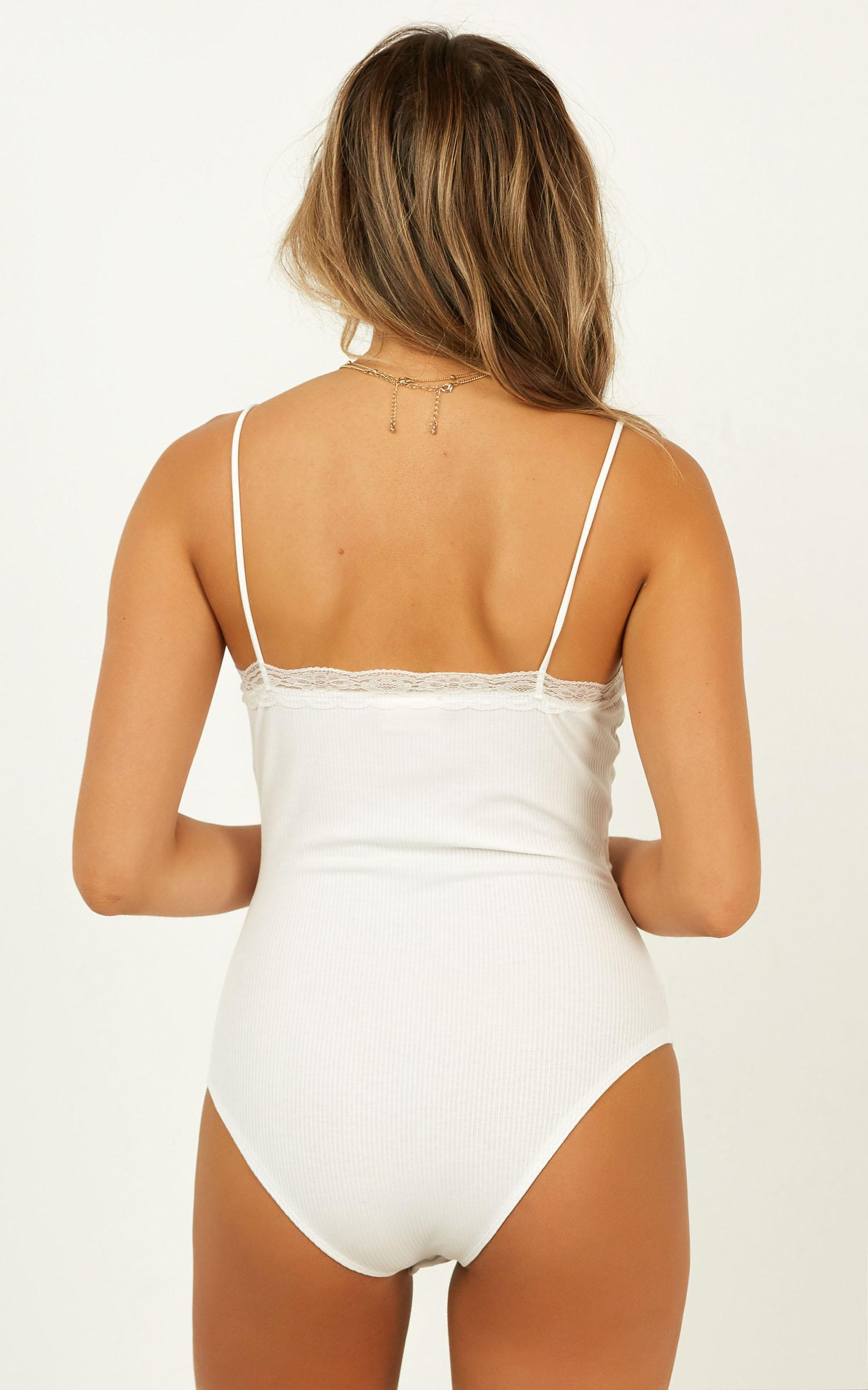 On The Cover Bodysuit In white - 18 (XXXL), White, hi-res image number null