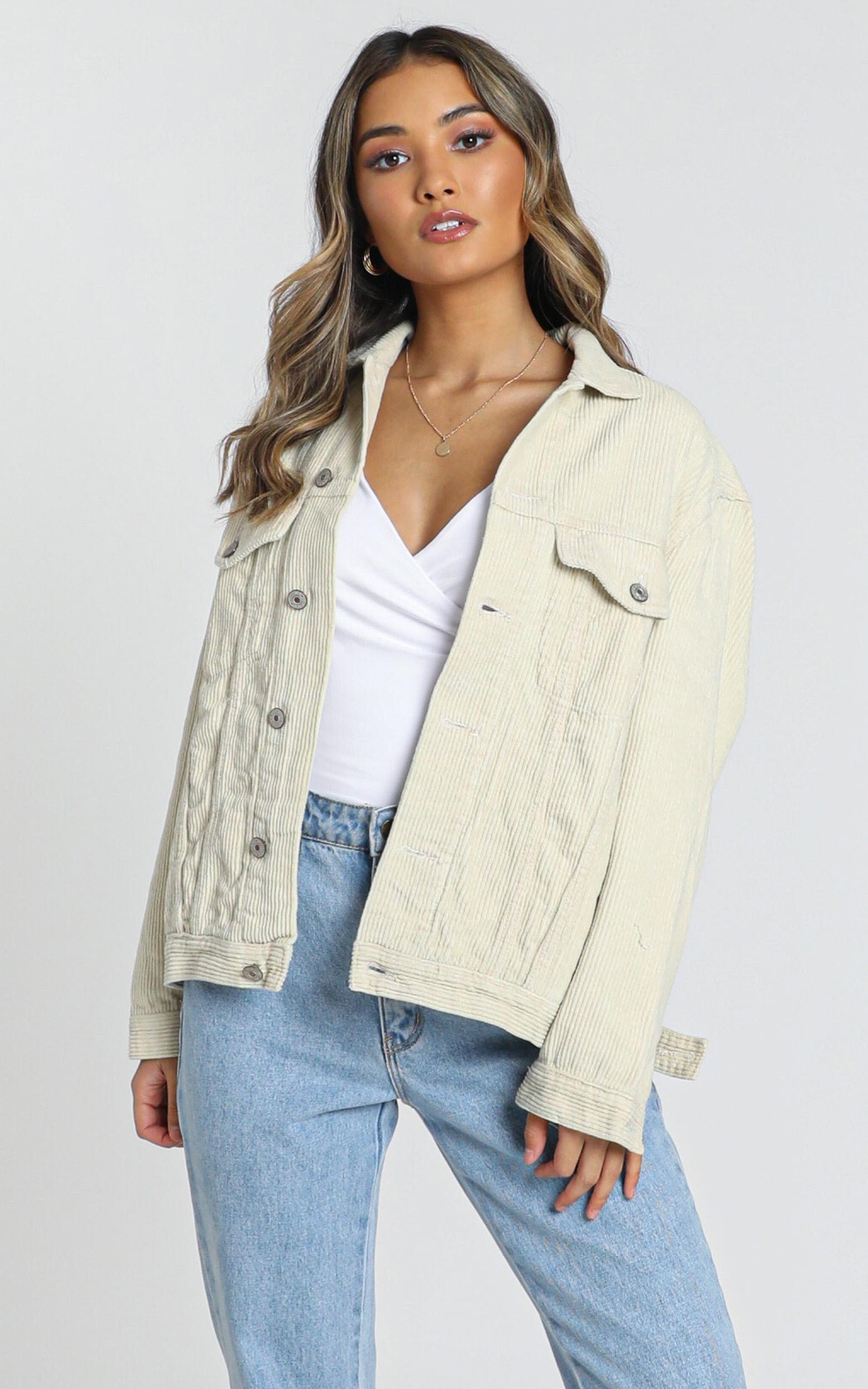 Heartwarming Jacket in beige cord - 20 (XXXXL), Beige, hi-res image number null