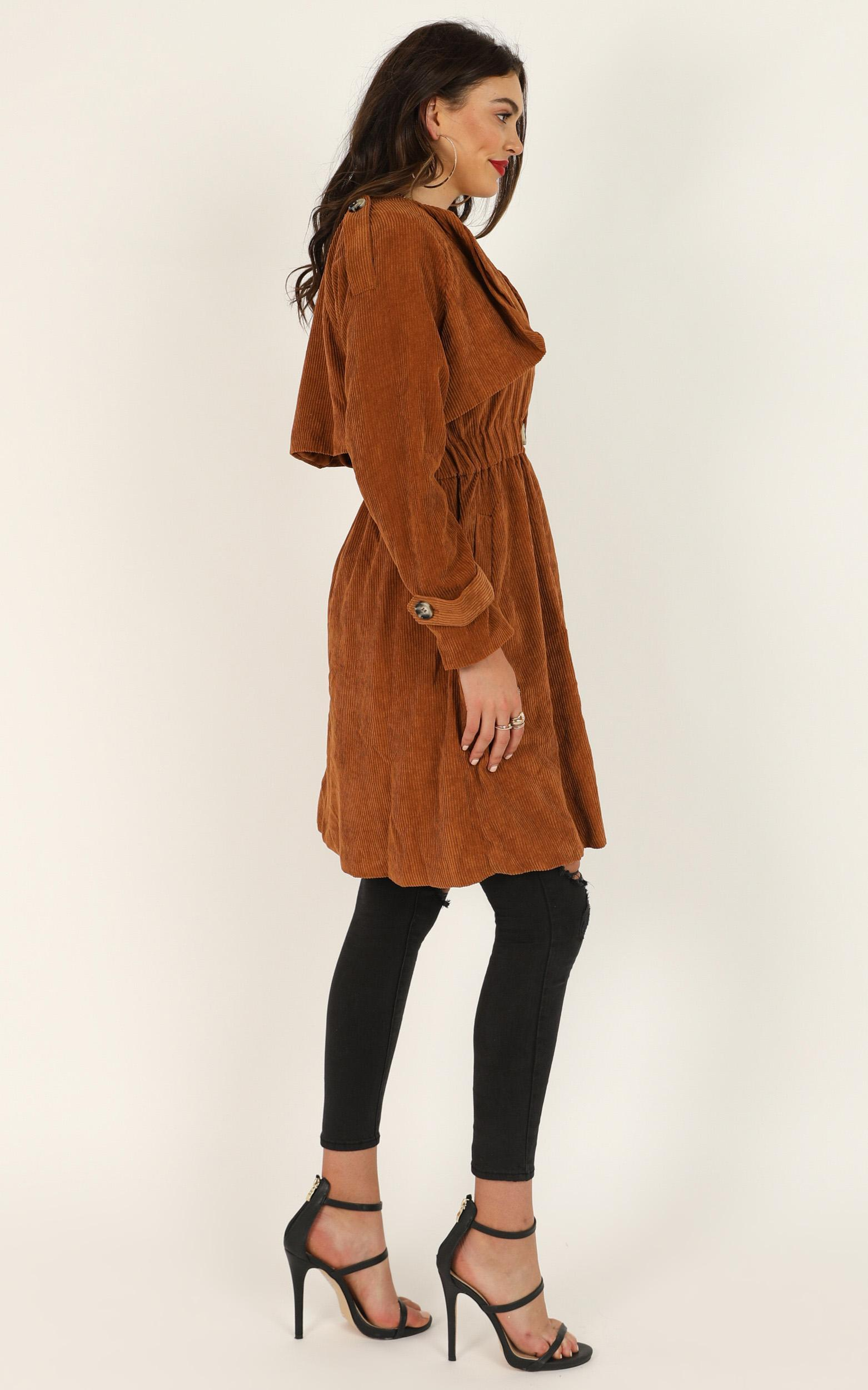I Almost Do coat in brown cord - 14 (XL), Brown, hi-res image number null