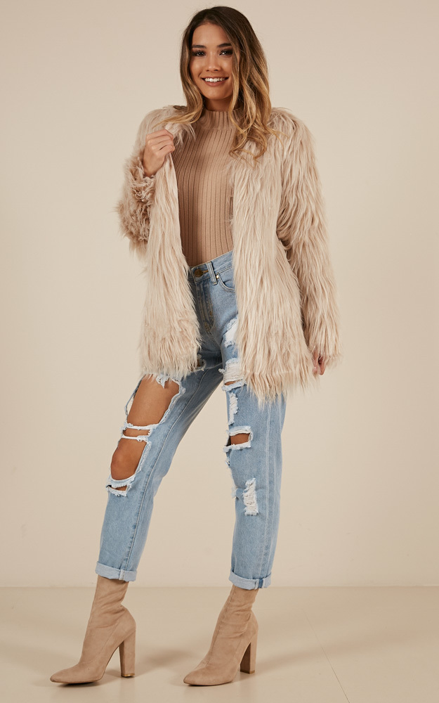 Faux Real coat in blush - 6 (XS), Blush, hi-res image number null