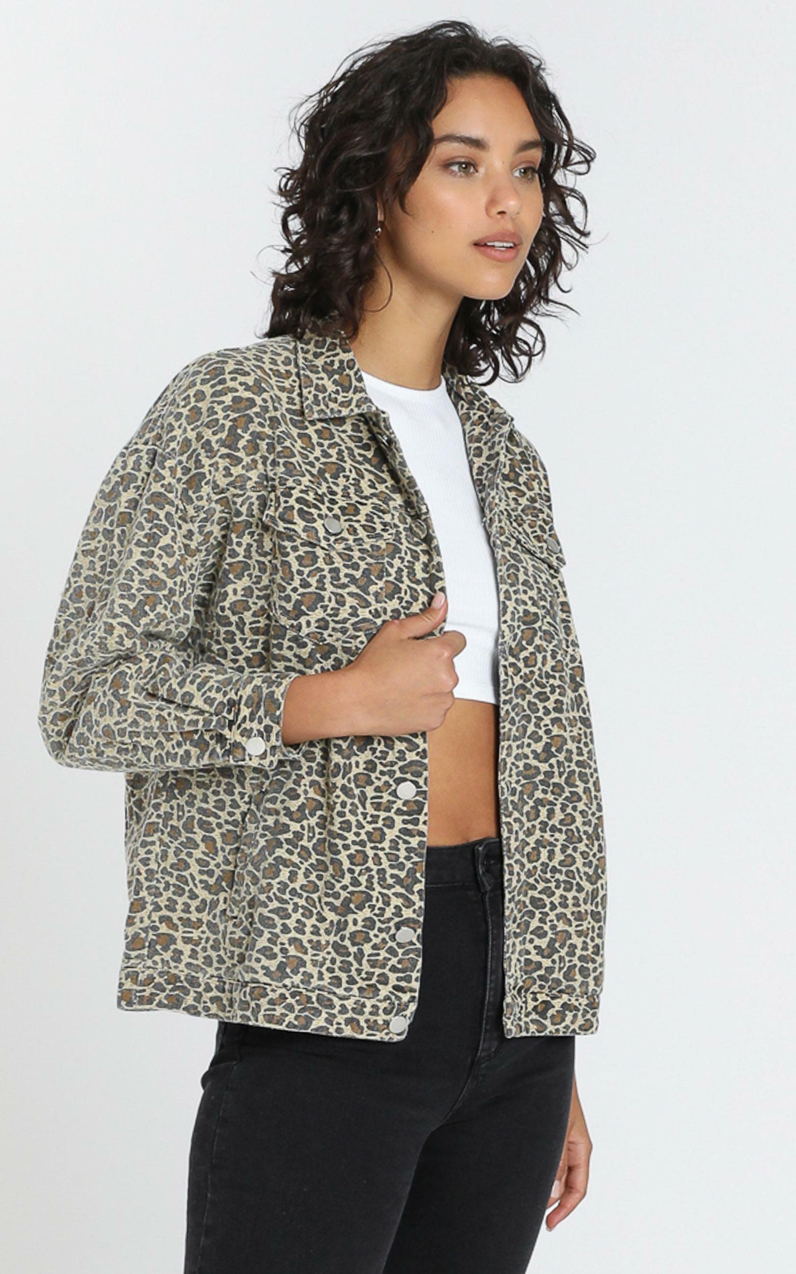 Fab Jacket in Leopard - 8 (S), Beige, hi-res image number null