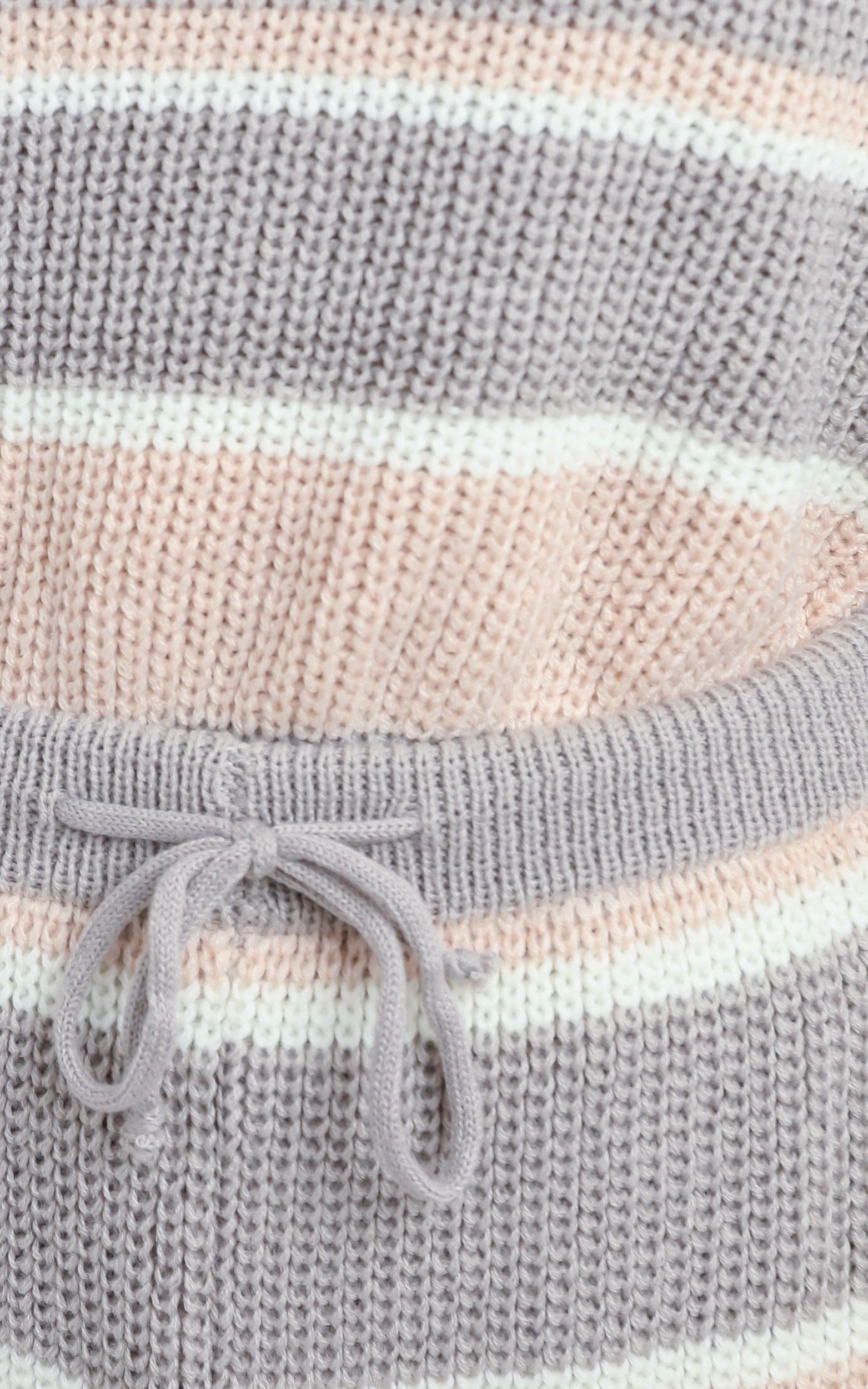 Eeva Two Piece Set in Pink Stripe - L/XL, Pink, hi-res image number null