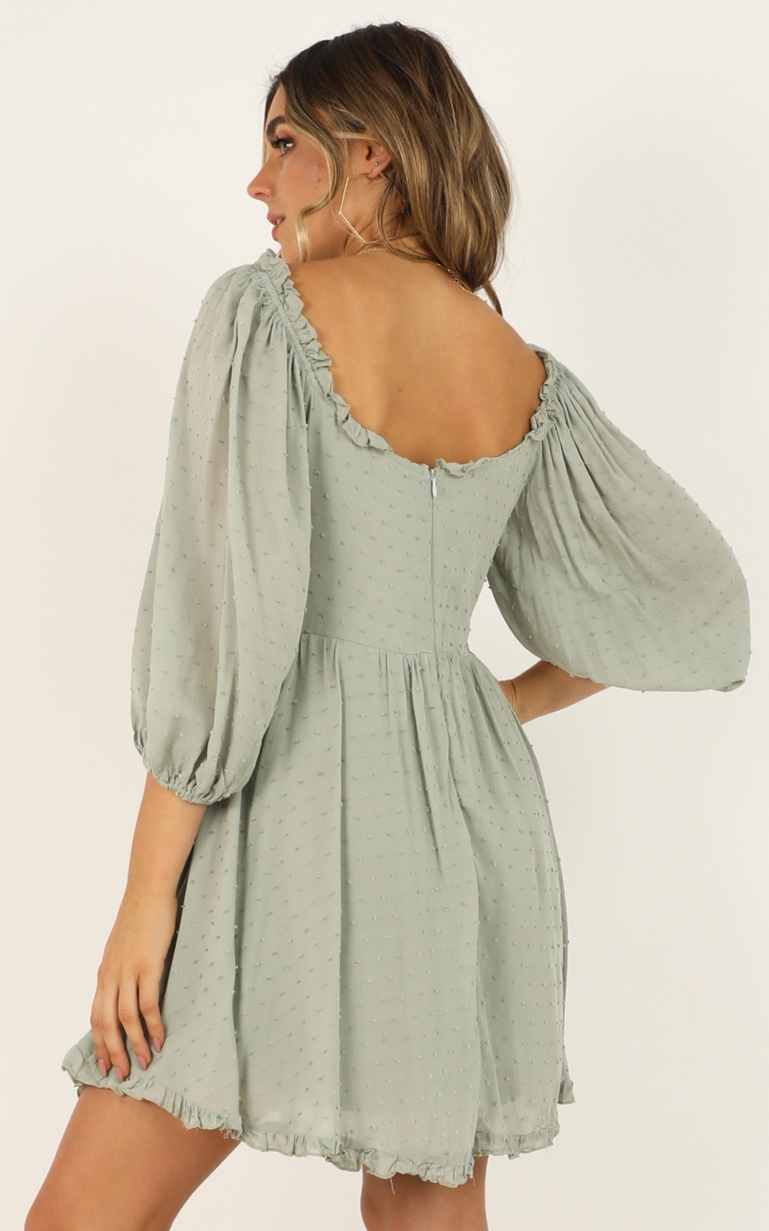Speak A Little Louder dress in sage - 12 (L), Sage, hi-res image number null