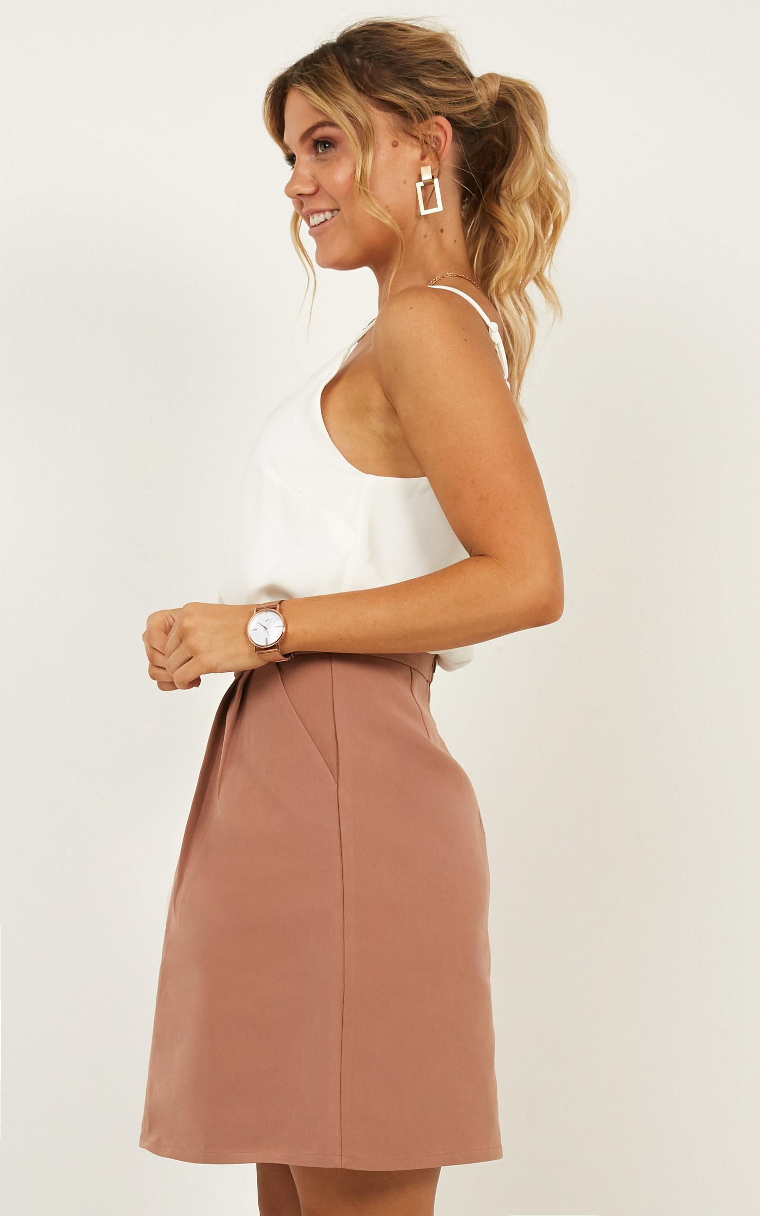 Crunch Time Skirt in dark mocha - 20 (XXXXL), Mocha, hi-res image number null