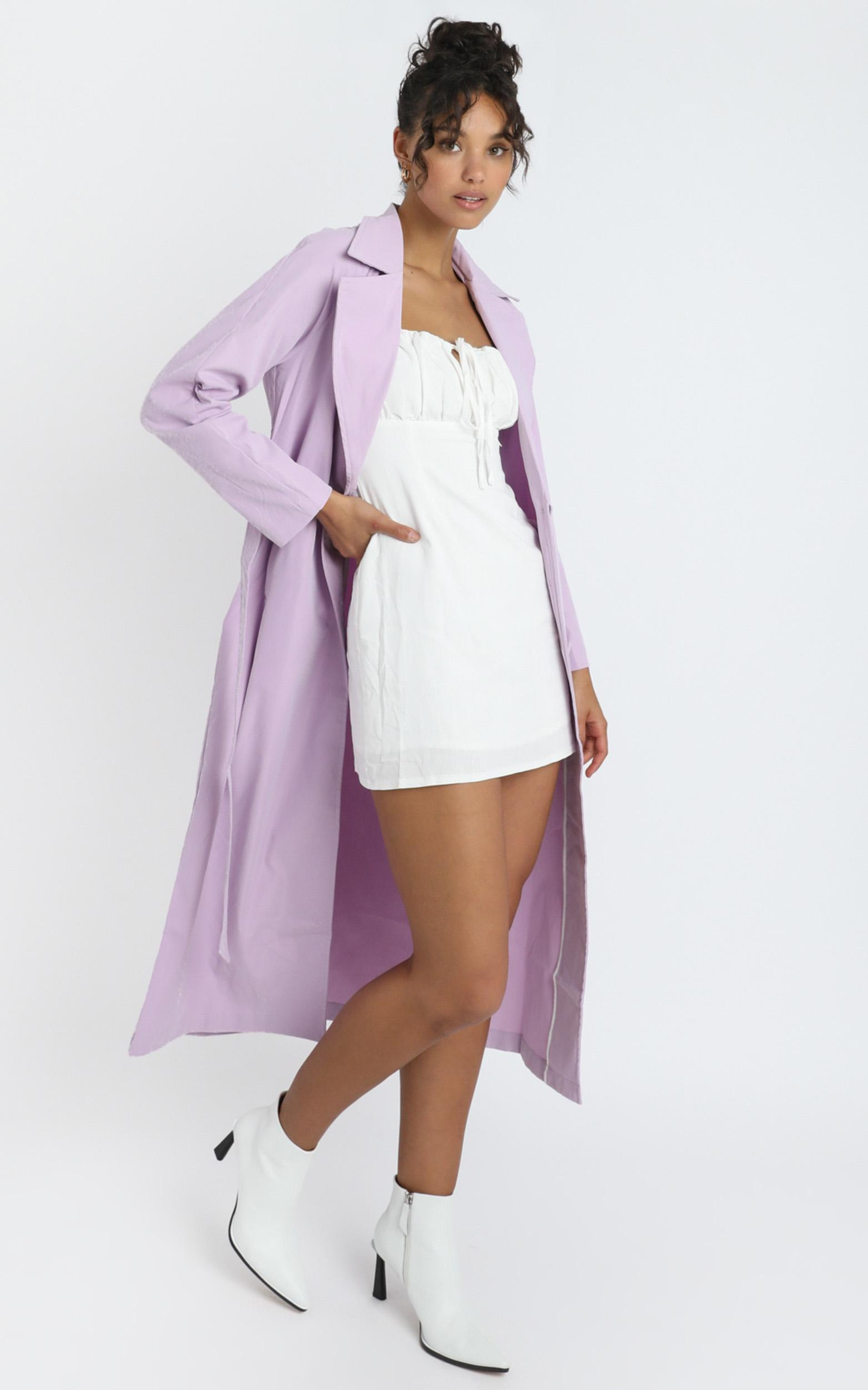 Cecile Trench Coat in lilac - 6 (XS), Purple, hi-res image number null