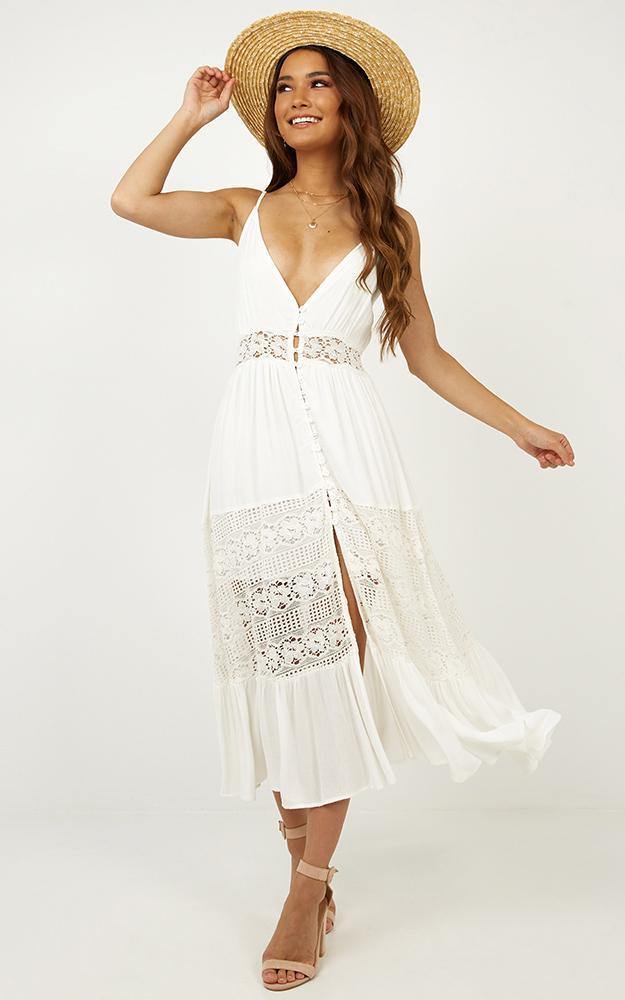 Lily Field maxi dress in white - 14 (XL), White, hi-res image number null