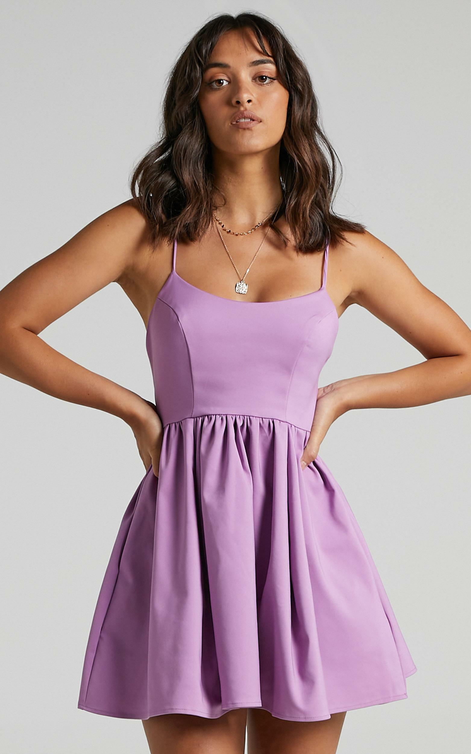 You Got Nothing To Prove A-line Mini Dress in Lilac - 06, PRP5, hi-res image number null
