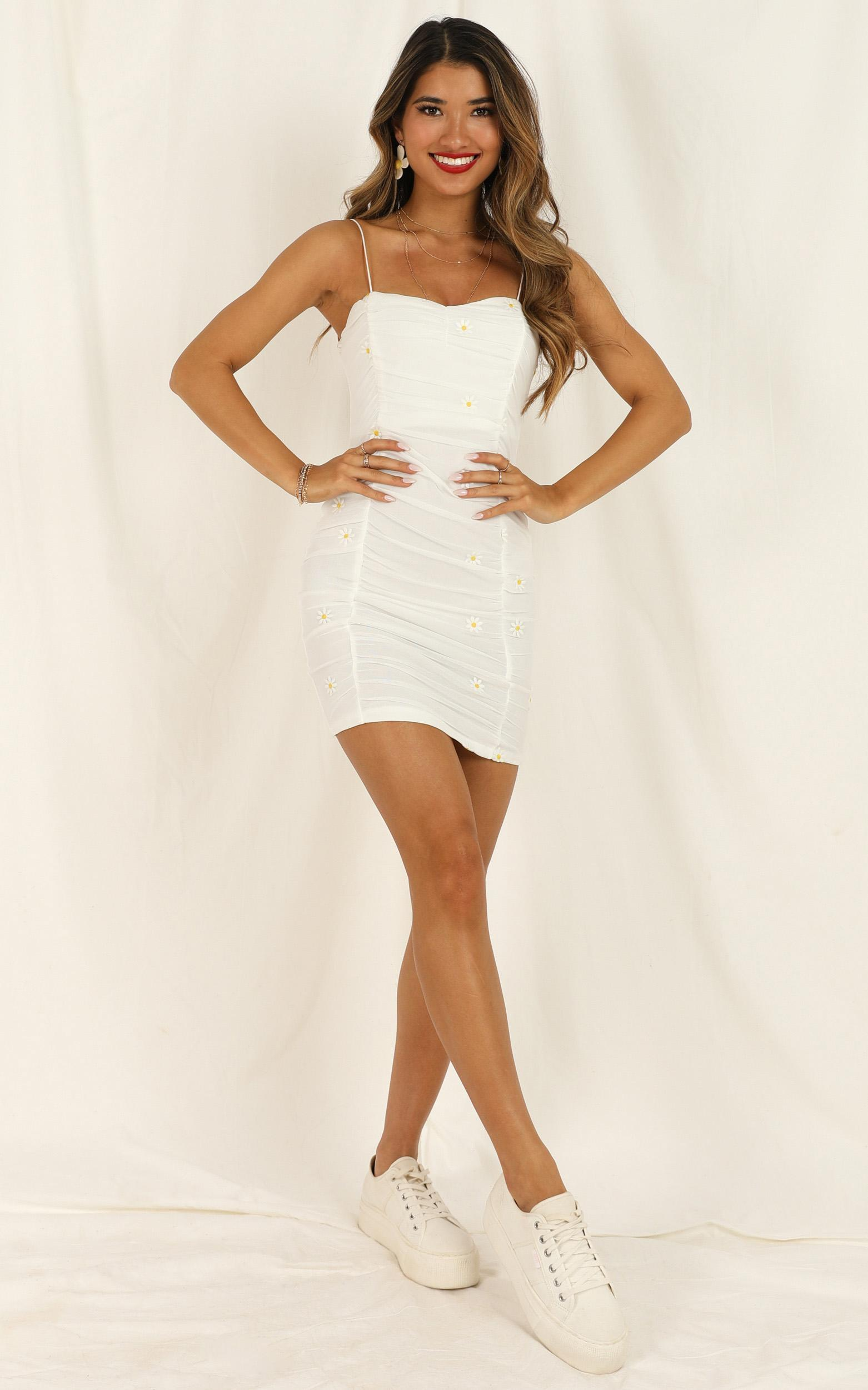 Drove You Crazy dress in white floral - 12 (L), White, hi-res image number null