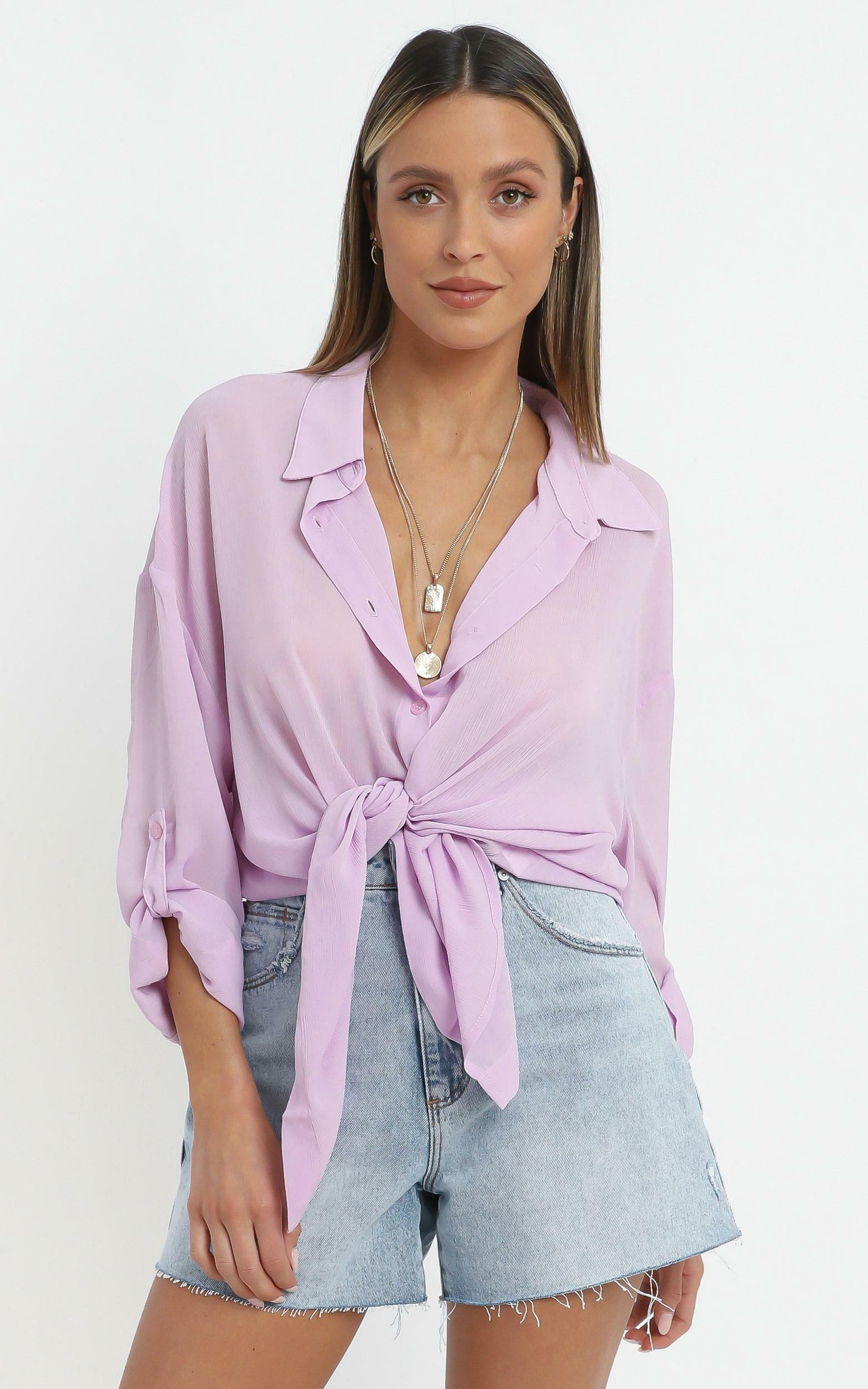 Morning Call Top in Lilac - 16 (XXL), Purple, hi-res image number null