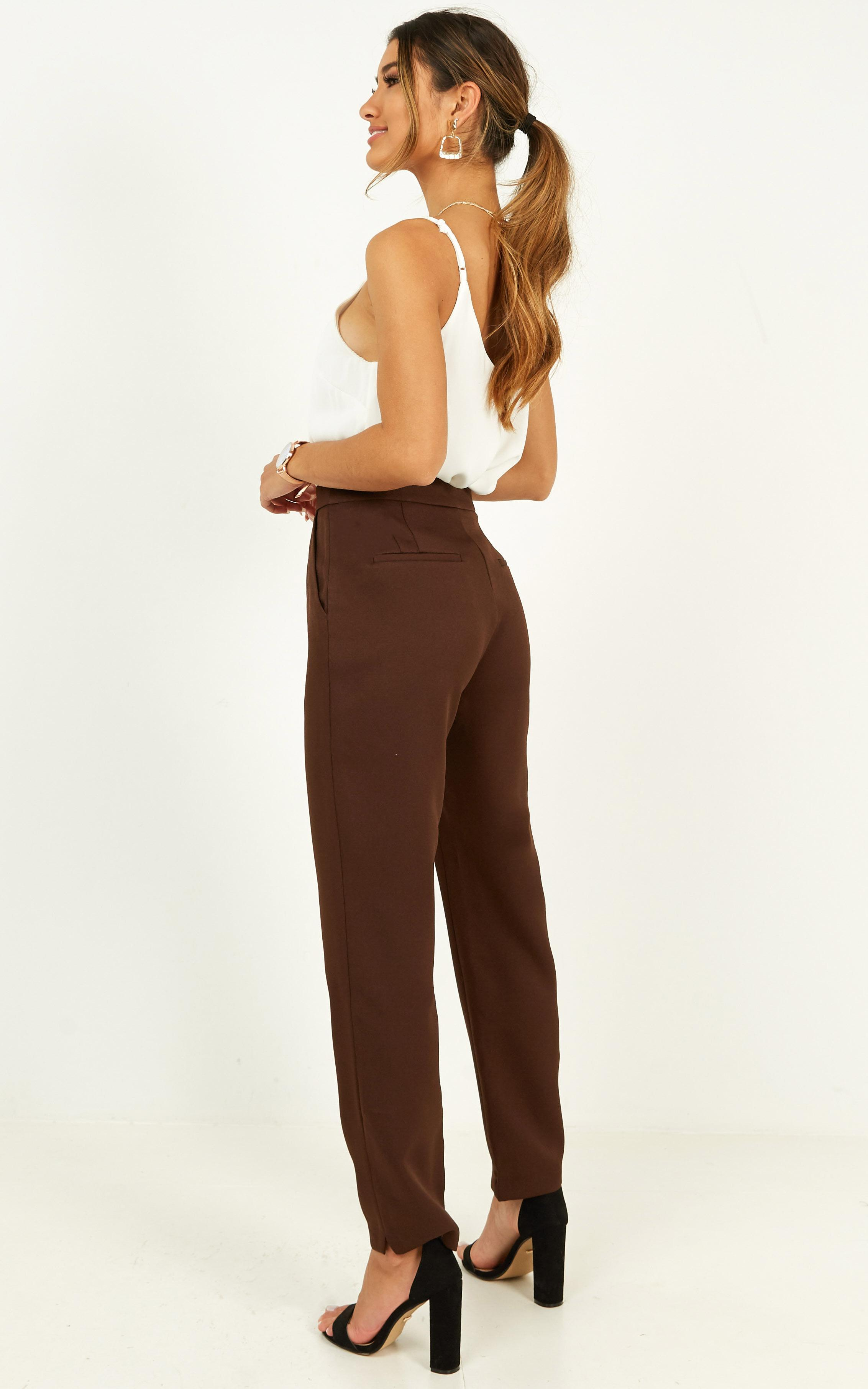 Independence Pants in chocolate - 14 (XL), Brown, hi-res image number null