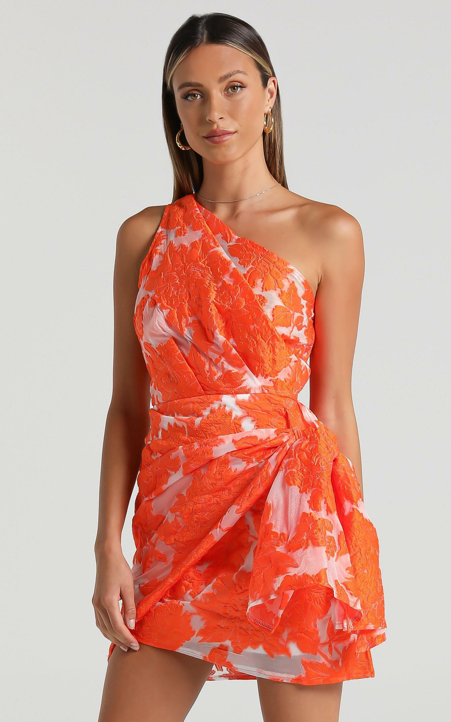 Brailey Dress in Orange Floral - 06, ORG1, hi-res image number null