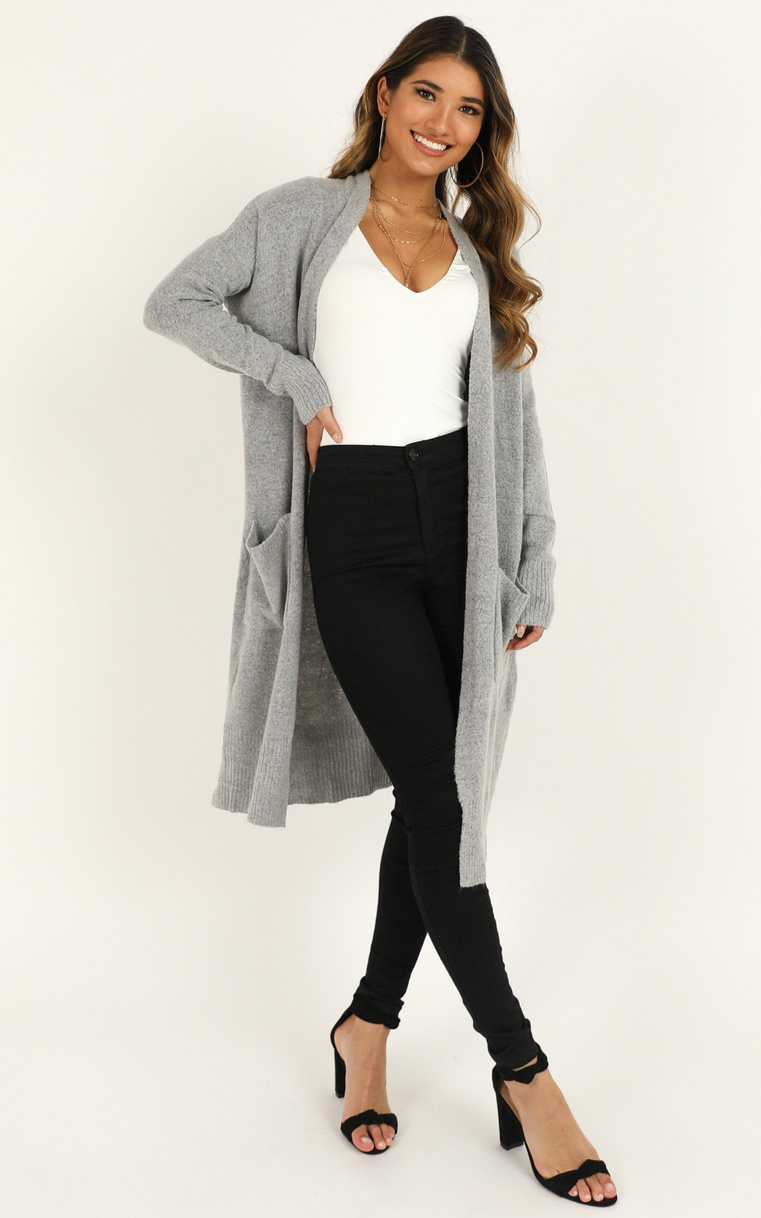League of Your Own Cardigan in grey - 14 (XL), Grey, hi-res image number null