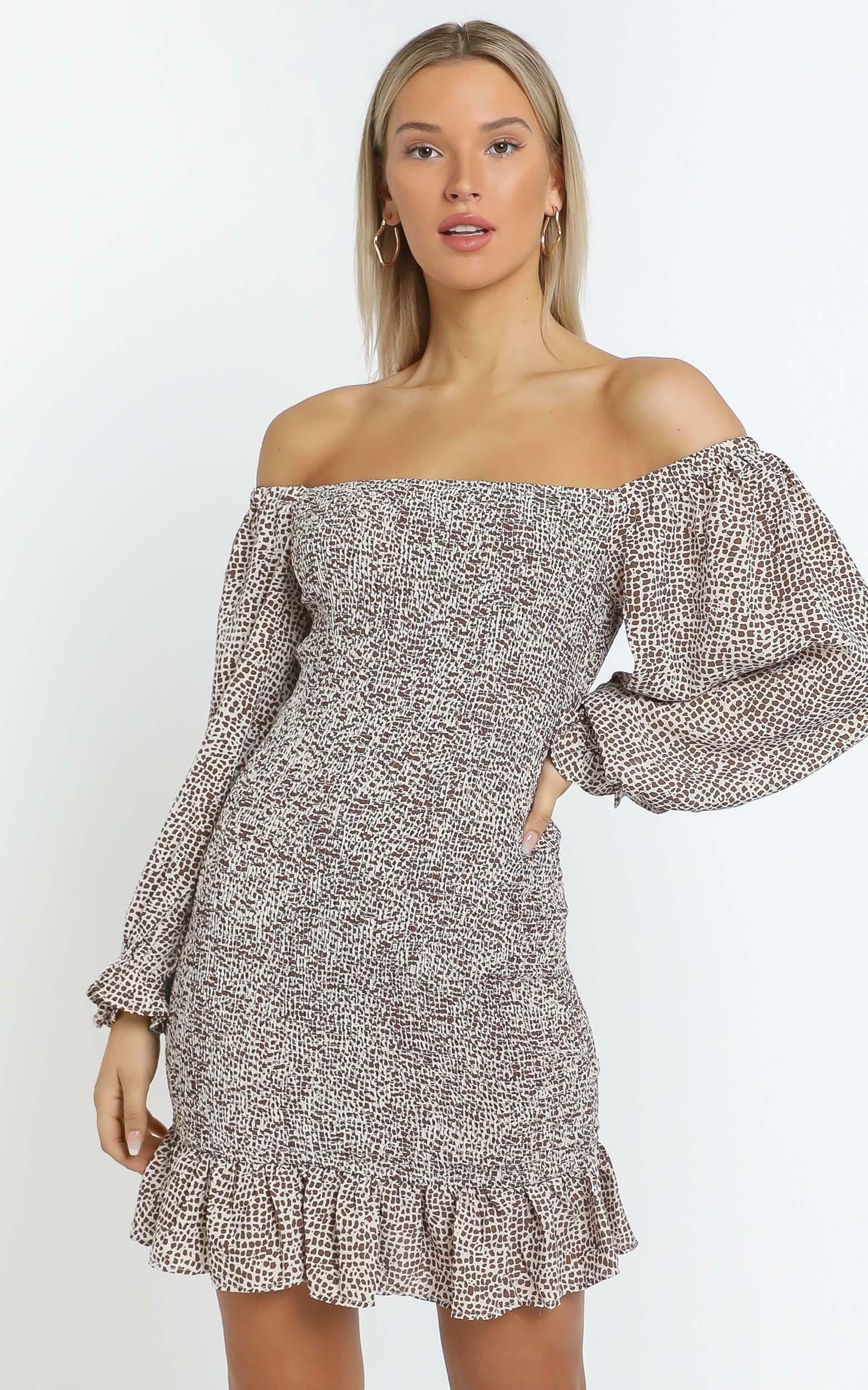 Meg Dress in Choc Spot - 14 (XL), BRN1, hi-res image number null