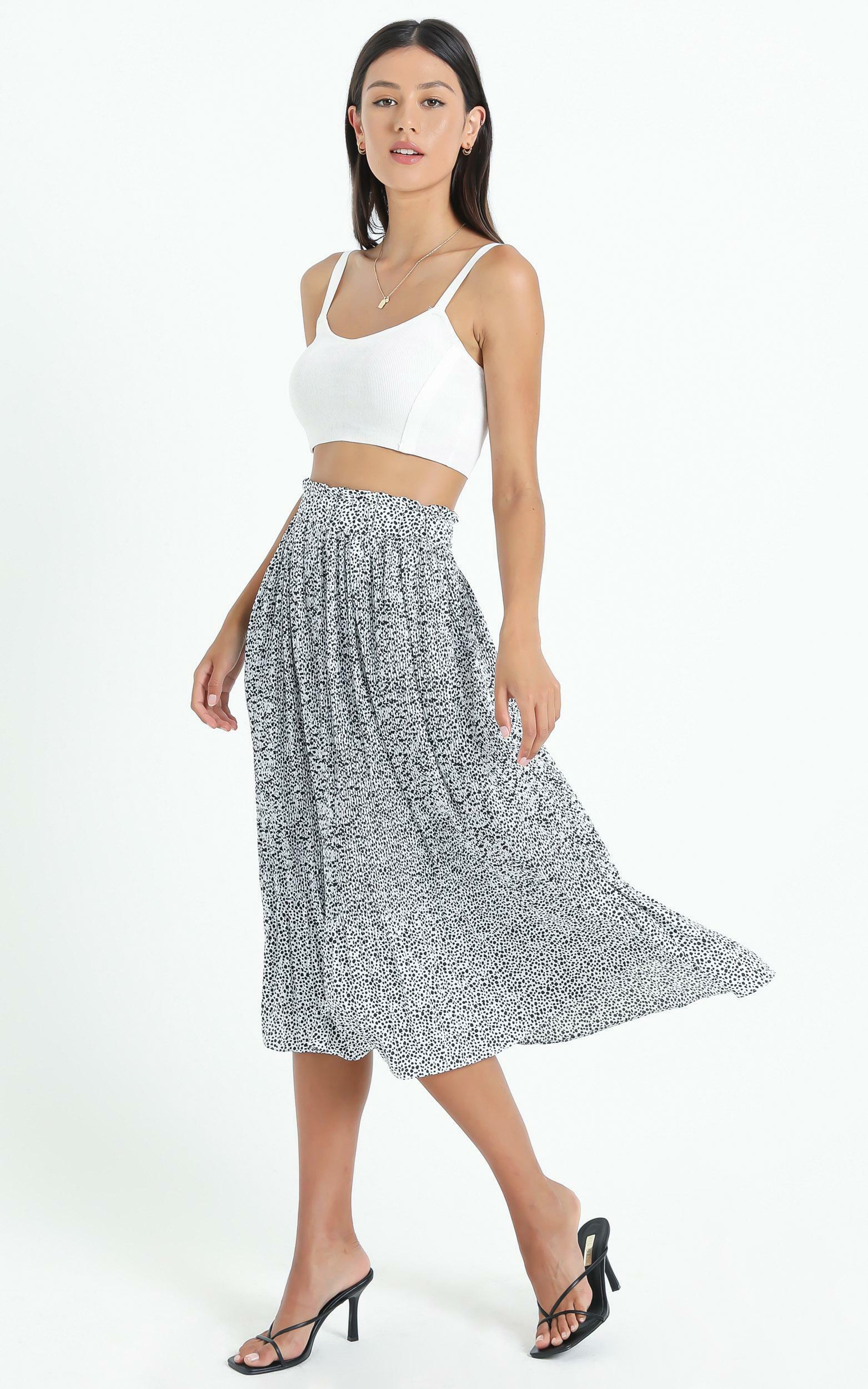 Not My Problem Skirt in black print - 14 (XL), Black, hi-res image number null
