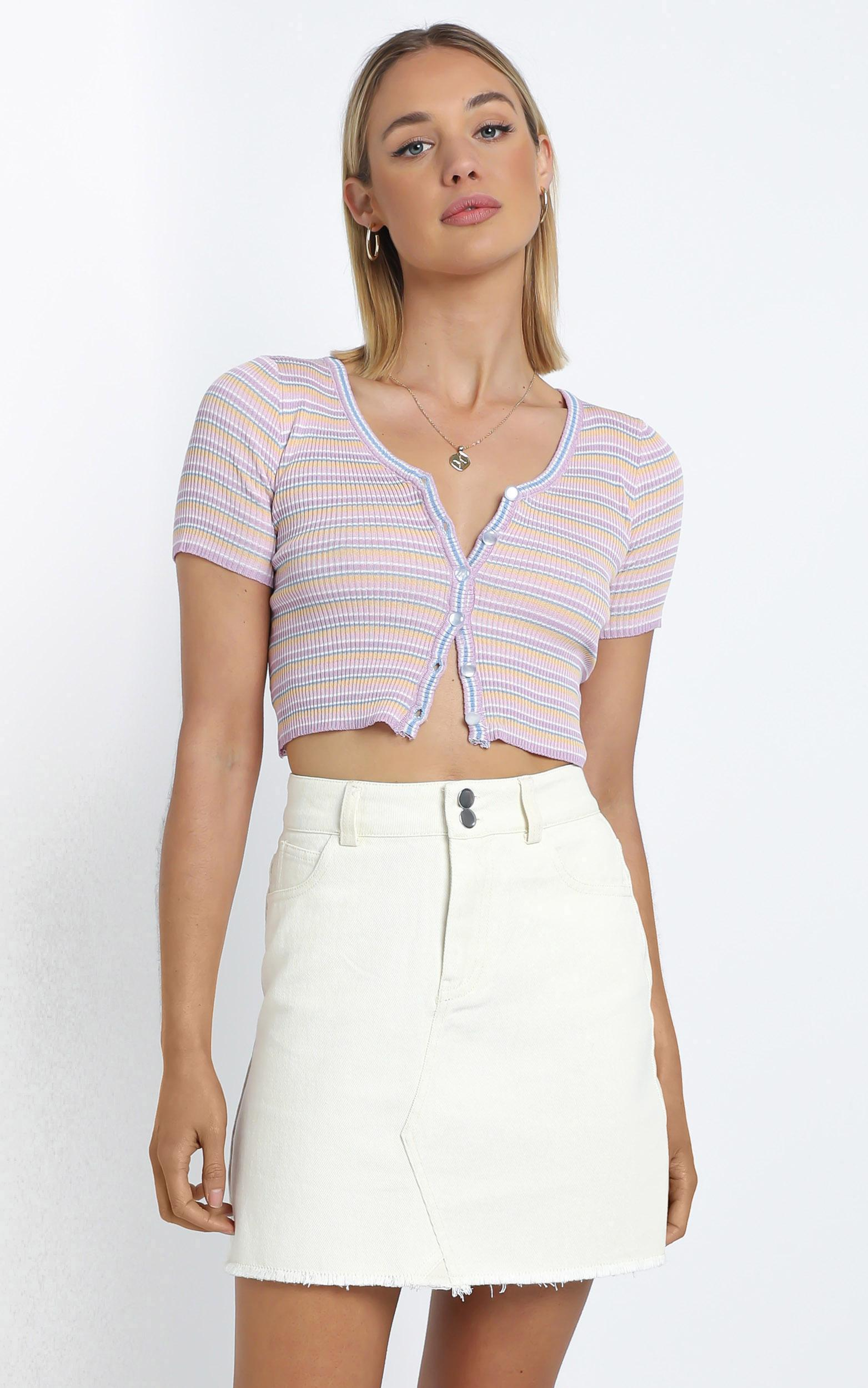 Morris Top in Pink Stripe - M/L, Pink, hi-res image number null