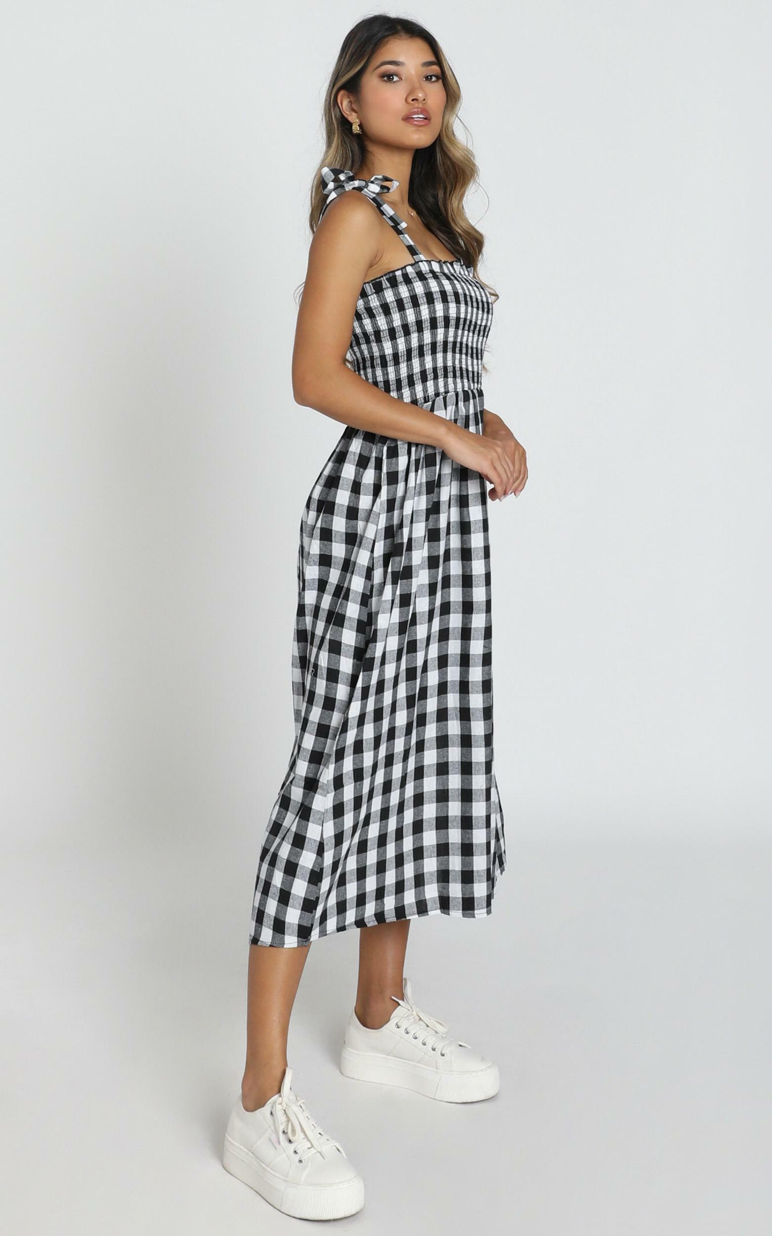 European Love Dress in black and white check - 6 (XS), Black, hi-res image number null