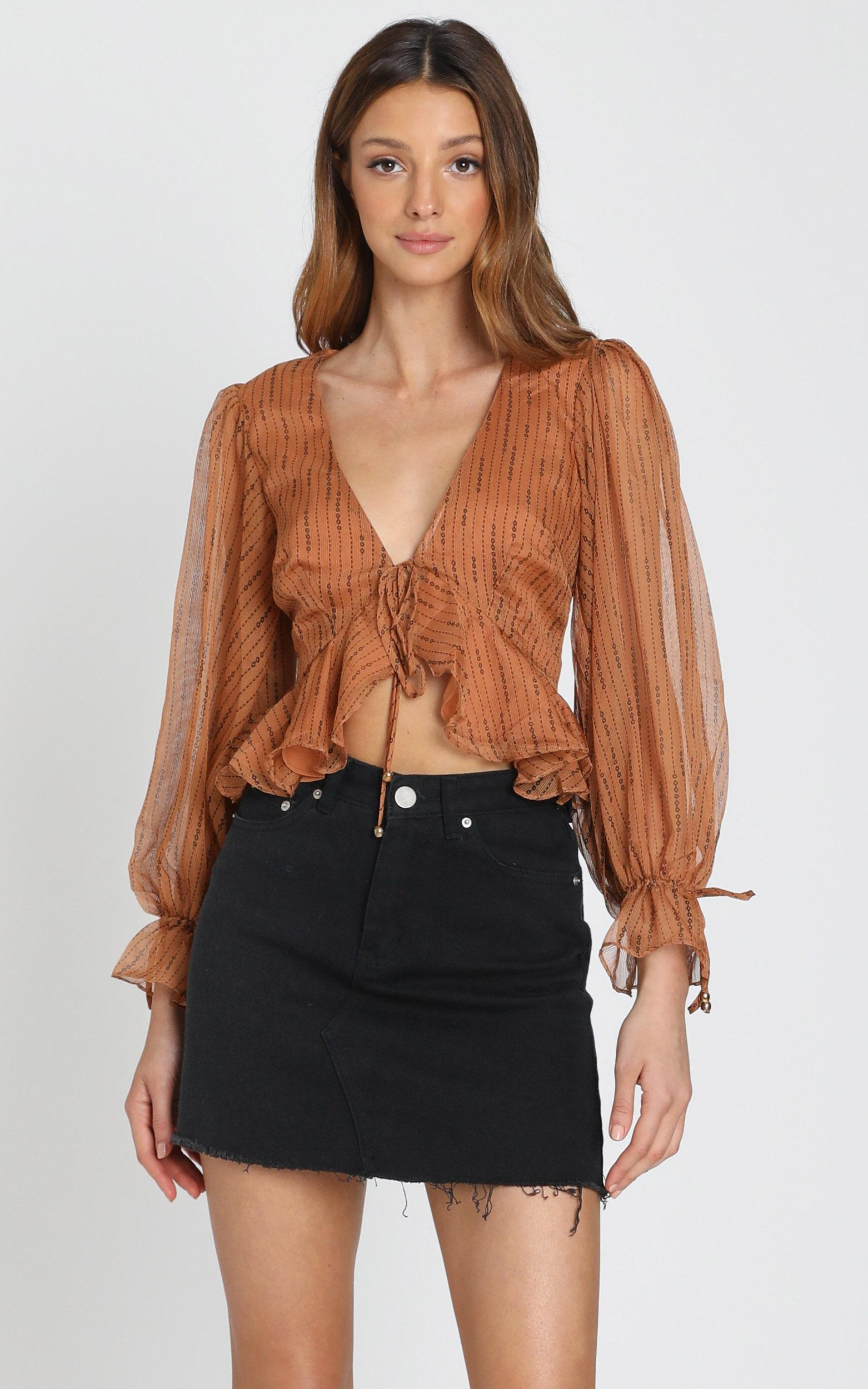 Orlaith Top in Caramel - 6 (XS), Camel, hi-res image number null