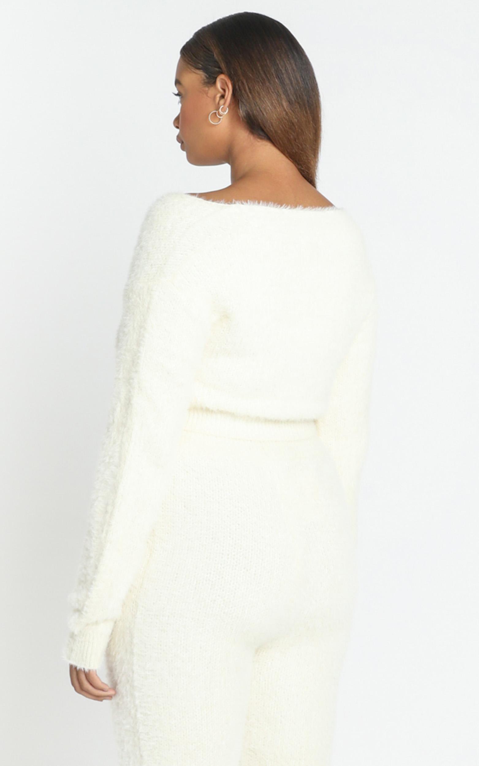 Carey Knit Jumper in Cream - 8 (S), Cream, hi-res image number null