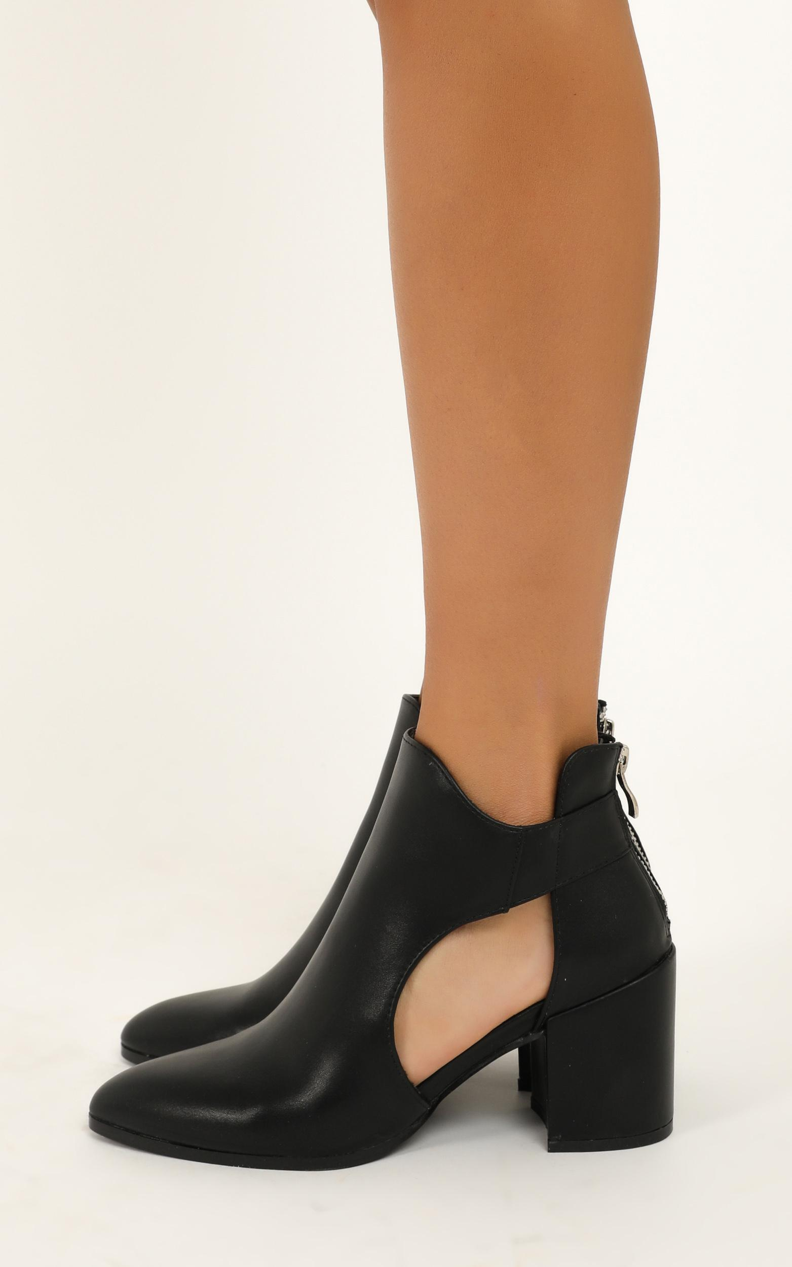 Therapy - Maya boots in black smooth - 10, Black, hi-res image number null