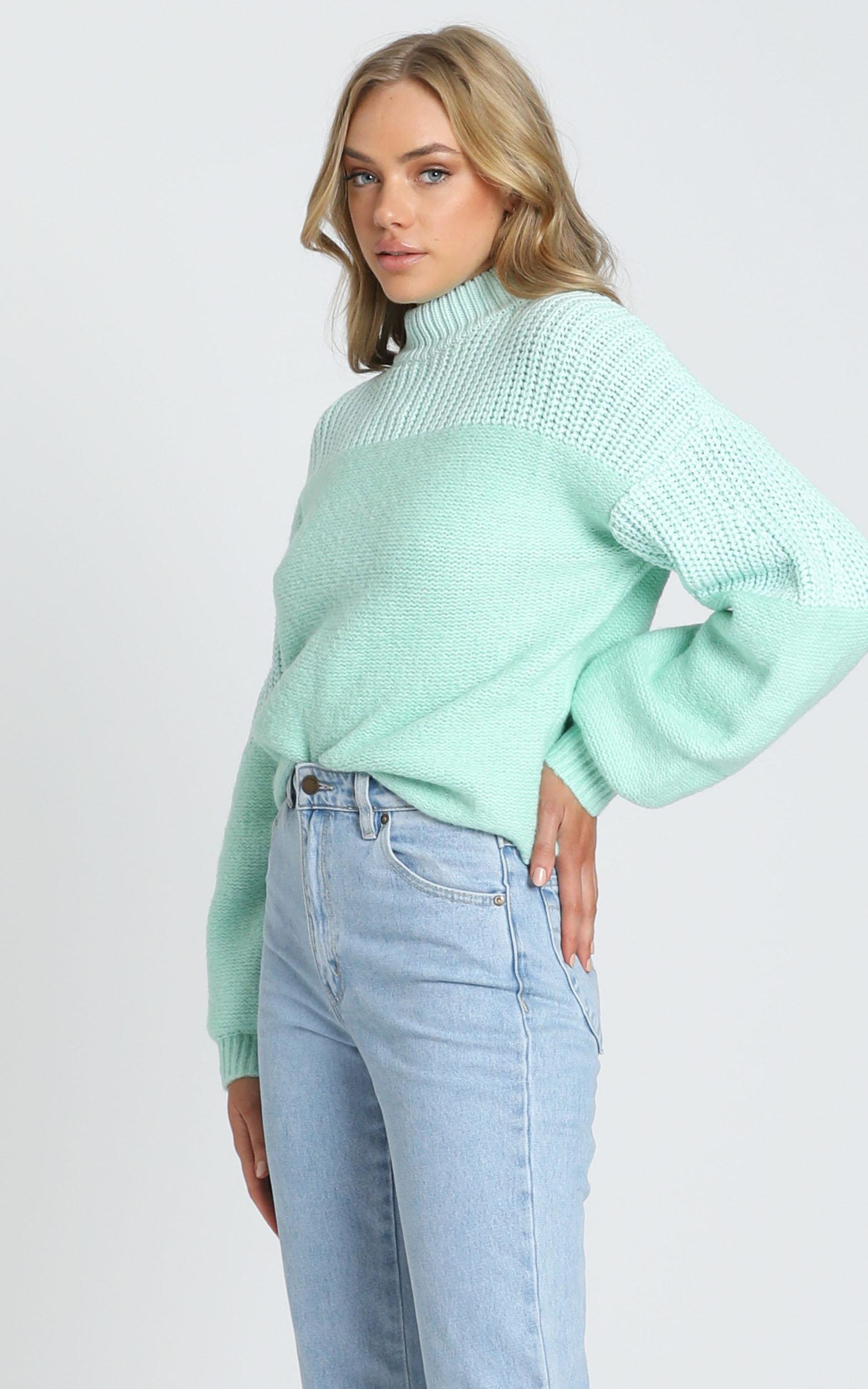 Dakota Knit Jumper in mint - 6 (XS), Green, hi-res image number null