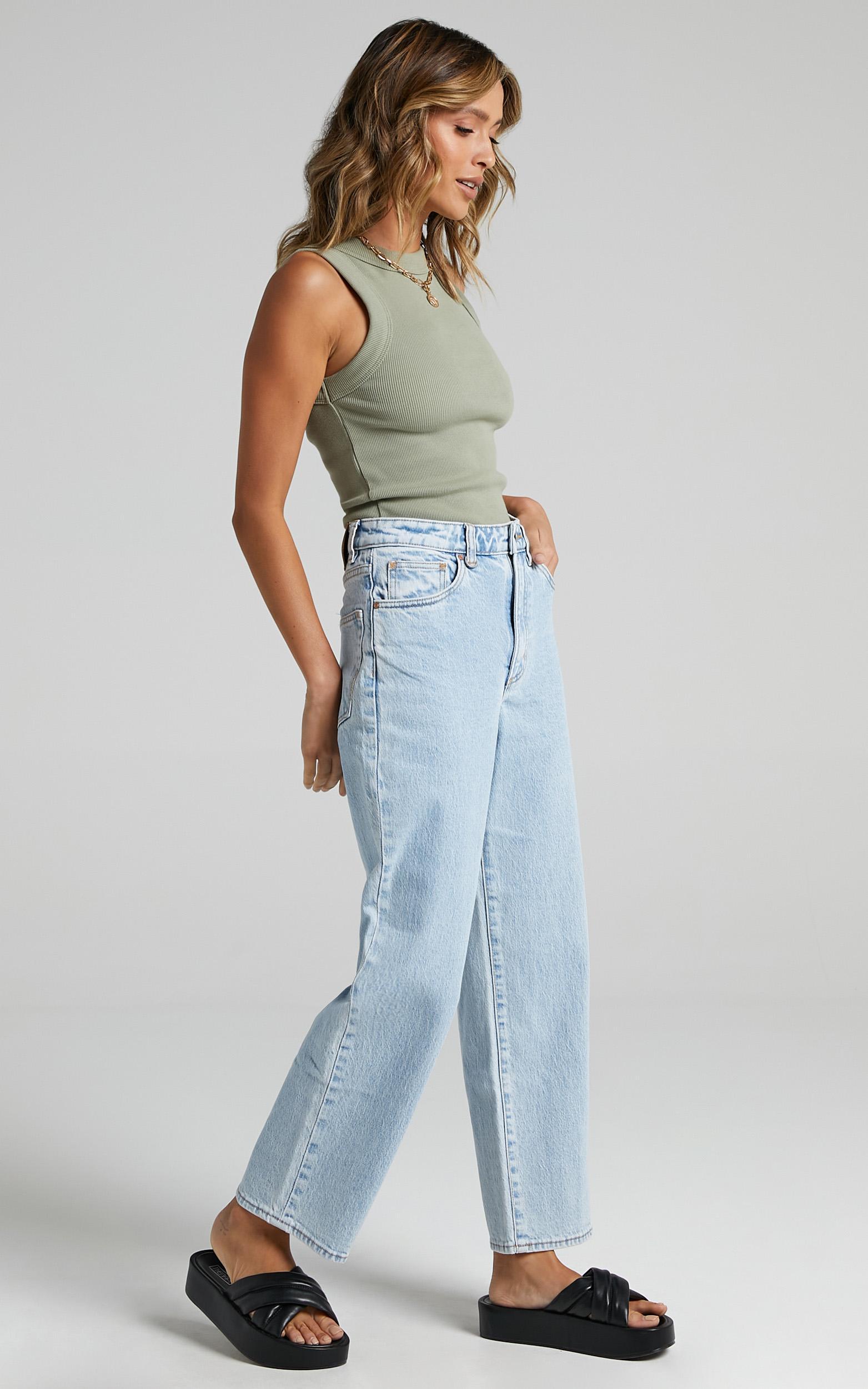 Neuw - Edie Straight Jean in Zero Vinyl - 6 (XS), Blue, hi-res image number null