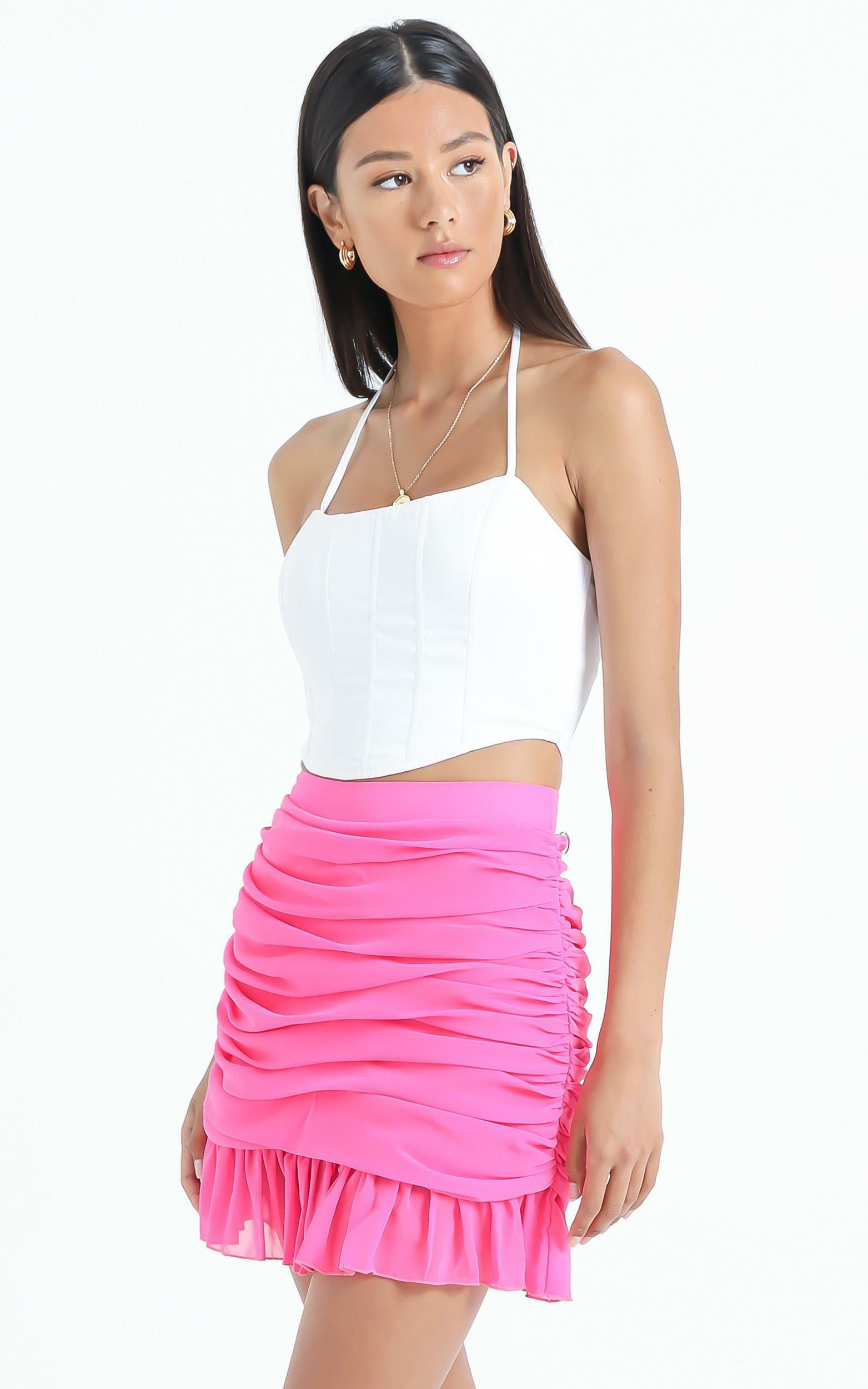 Manon Skirt in Hot Pink - 6 (XS), PNK11, hi-res image number null