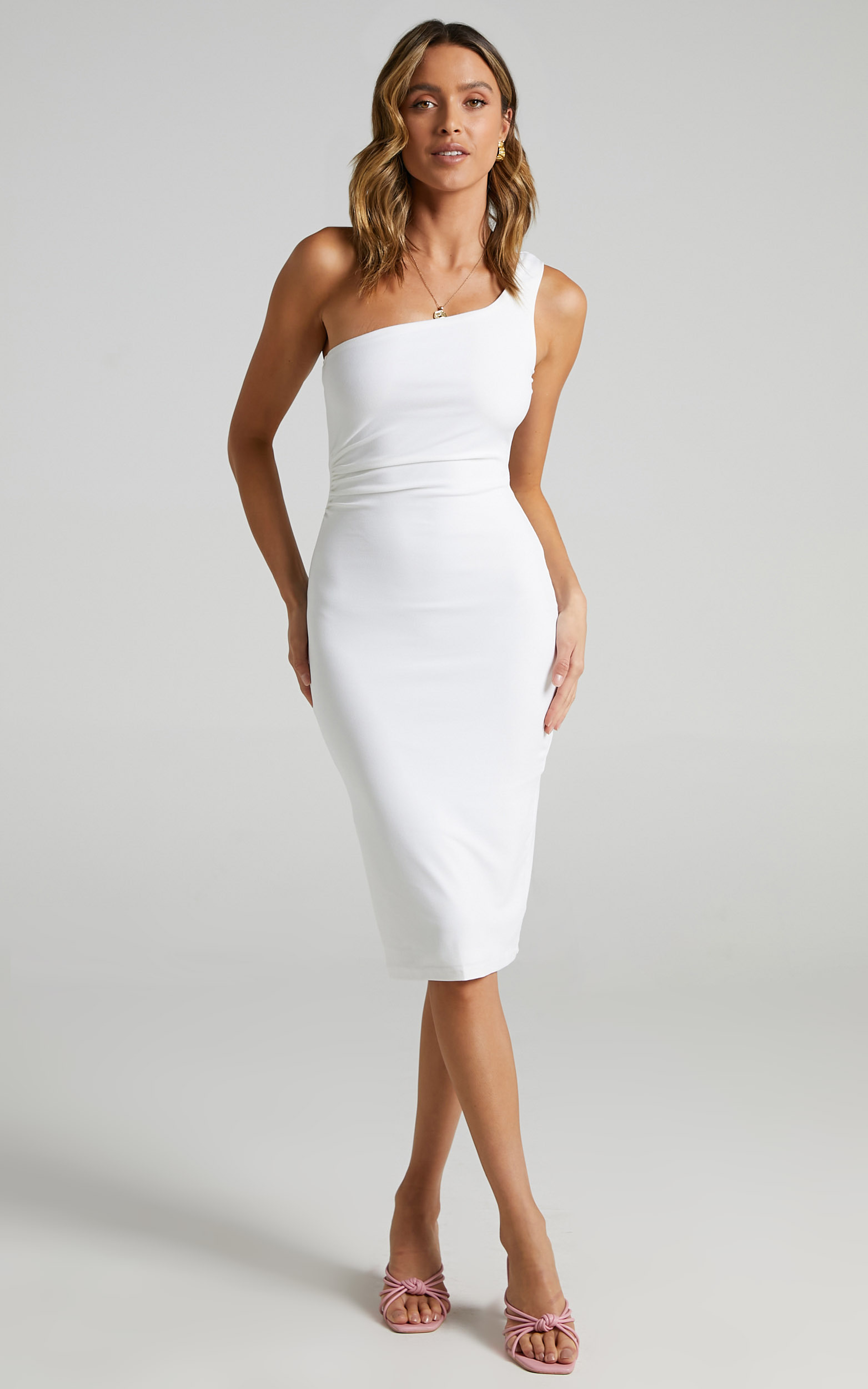 Got Me Looking Dress in White - 20, WHT1, hi-res image number null