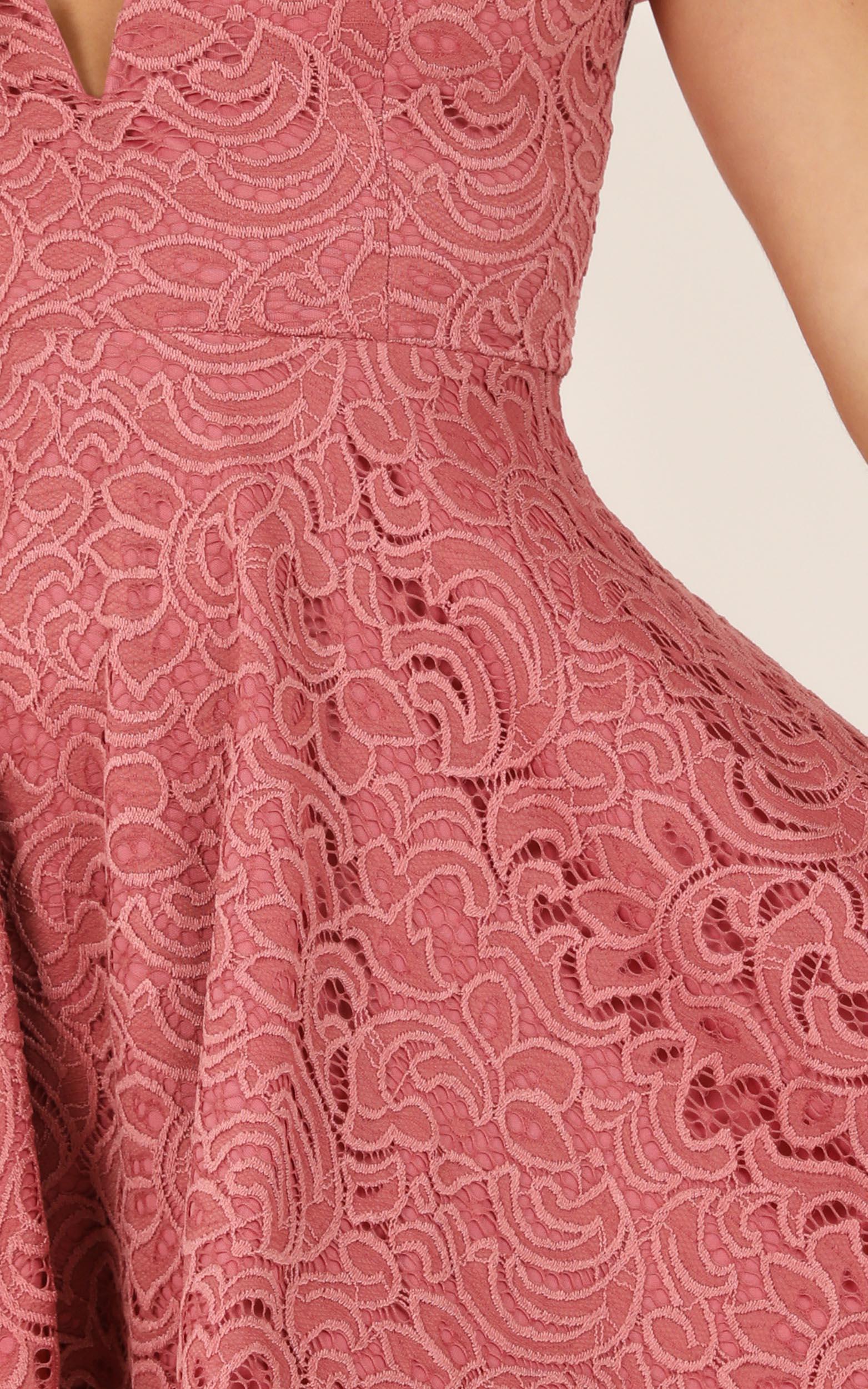 Subtle Hints dress in dusty rose - 12 (L), Pink, hi-res image number null