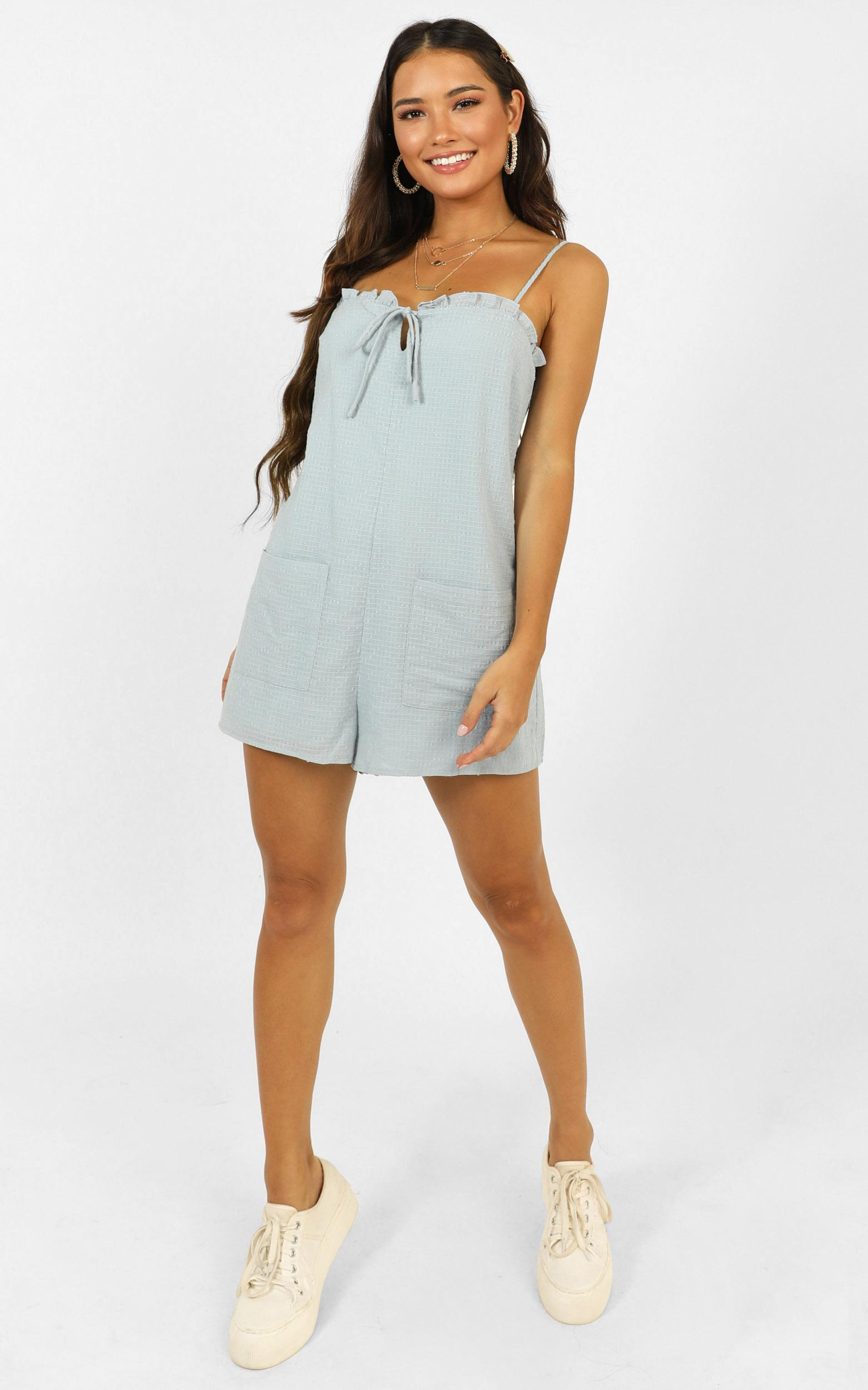Sugar Rush Playsuit in blue - 6 (XS), Blue, hi-res image number null