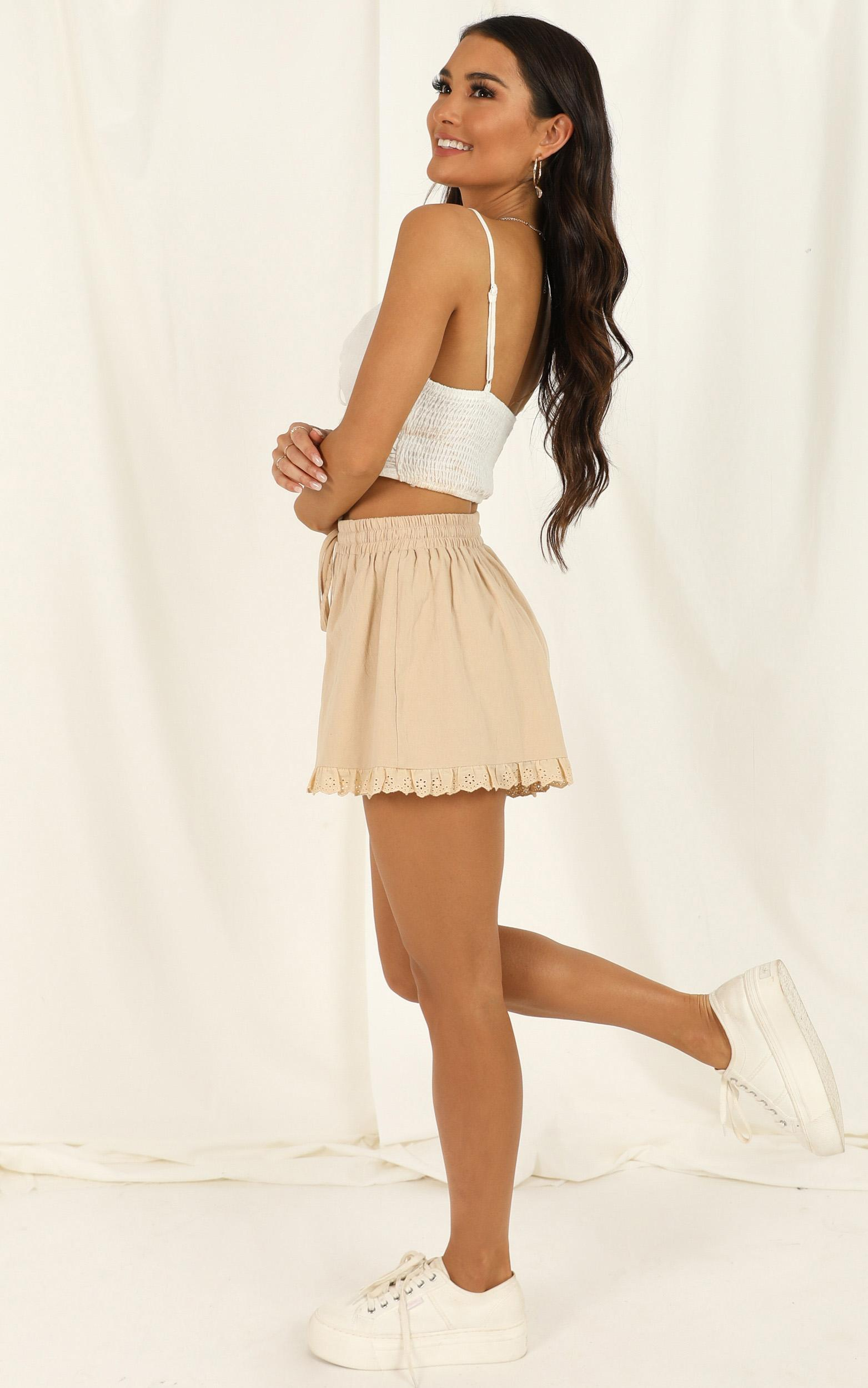 Dont Foul Me shorts in beige - 20 (XXXXL), Beige, hi-res image number null