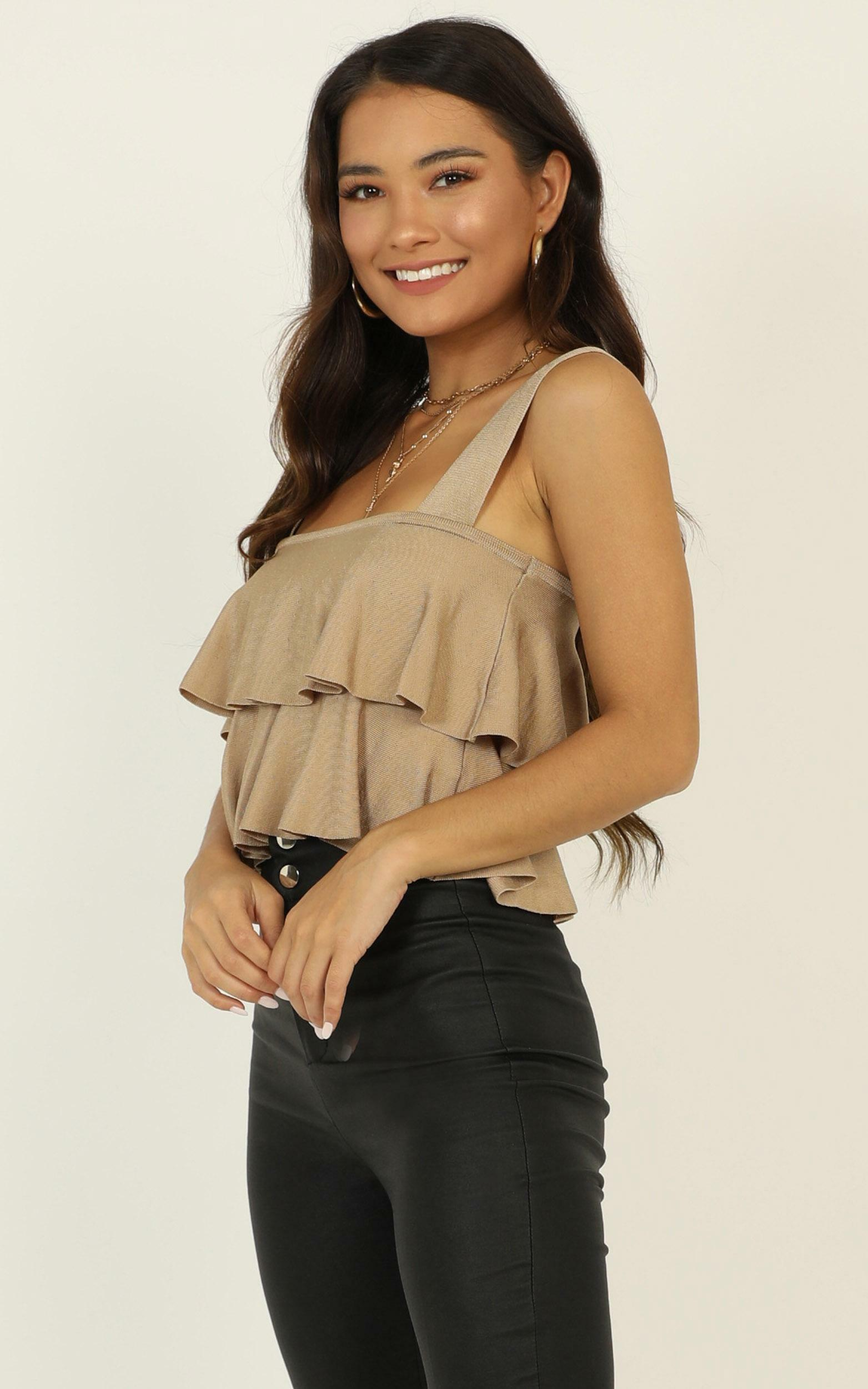 All Your Love knit top in taupe - 16 (XXL), Taupe, hi-res image number null