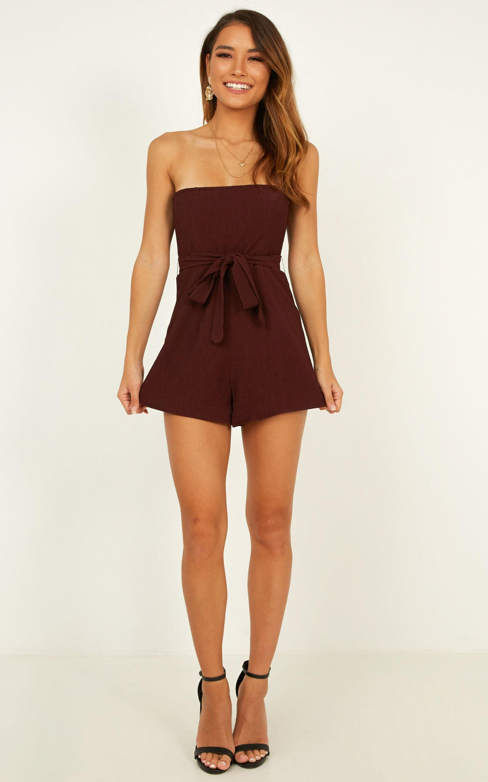 loved and lost Playsuit In plum - 20 (XXXXL), Plum, hi-res image number null