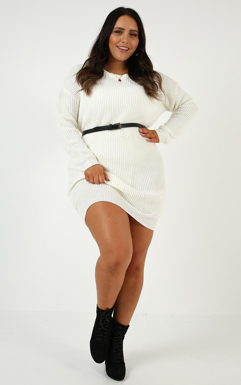 Weve Only Just Began Knit Dress in white - 20 (XXXXL), White, hi-res image number null