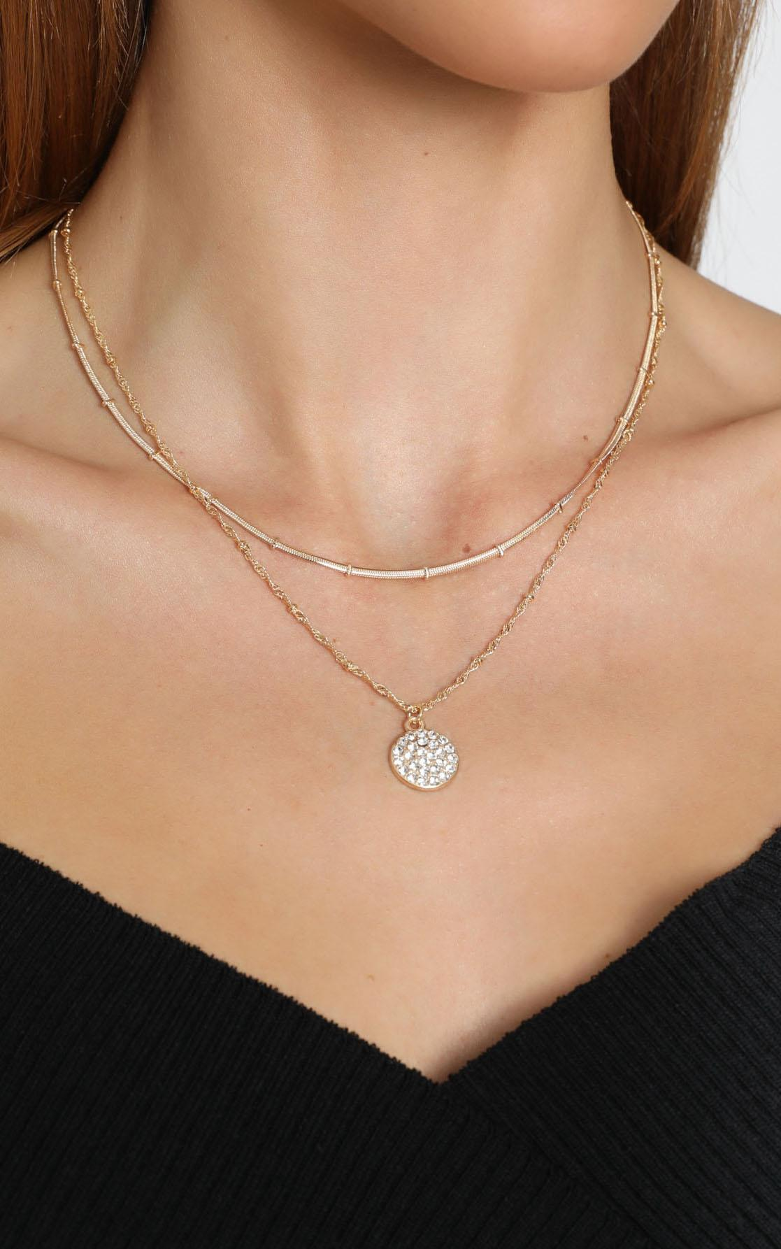 Kaitlyn Layered Necklace in Gold, , hi-res image number null